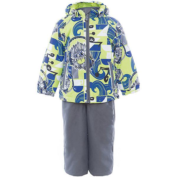 Комплект: куртка и полукомбинезон YOKO для мальчика HuppaКомплекты<br>Характеристики товара:<br><br>• цвет: лайм принт/серый<br>• комплектация: куртка и полукомбинезон <br>• ткань: 100% полиэстер<br>• подкладка: тафта - 100% полиэстер<br>• утеплитель: в куртке и в брюках - 100% полиэстер 100 г<br>• температурный режим: от -5°С до +10°С<br>• водонепроницаемость: 10000 мм<br>• воздухопроницаемость: 10000 мм<br>• светоотражающие детали<br>• шов сидения проклеен<br>• эластичный шнур по низу куртки<br>• эластичный шнур с фиксатором внизу брючин<br>• съёмный капюшон с резинкой<br>• эластичные манжеты рукавов<br>• регулируемые низы брючин<br>• без внутренних швов<br>• резиновые подтяжки<br>• коллекция: весна-лето 2017<br>• страна бренда: Эстония<br><br>Такой модный демисезонный комплект  обеспечит детям тепло и комфорт. Он сделан из материала, отталкивающего воду, и дополнен подкладкой с утеплителем, поэтому изделие идеально подходит для межсезонья. Материал изделий - с мембранной технологией: защищая от влаги и ветра, он легко выводит лишнюю влагу наружу. Комплект очень симпатично смотрится. <br><br>Одежда и обувь от популярного эстонского бренда Huppa - отличный вариант одеть ребенка можно и комфортно. Вещи, выпускаемые компанией, качественные, продуманные и очень удобные. Для производства изделий используются только безопасные для детей материалы. Продукция от Huppa порадует и детей, и их родителей!<br><br>Комплект: куртка и полукомбинезон YOKO от бренда Huppa (Хуппа) можно купить в нашем интернет-магазине.<br>Ширина мм: 356; Глубина мм: 10; Высота мм: 245; Вес г: 519; Цвет: зеленый; Возраст от месяцев: 24; Возраст до месяцев: 36; Пол: Мужской; Возраст: Детский; Размер: 98,92,122,116,110,104; SKU: 5346739;