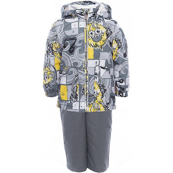 Комплект: куртка и полукомбинезон YOKO для мальчика HuppaКомплекты<br>Характеристики товара:<br><br>• цвет: серый принт<br>• комплектация: куртка и полукомбинезон <br>• ткань: 100% полиэстер<br>• подкладка: тафта - 100% полиэстер<br>• утеплитель: в куртке и в брюках - 100% полиэстер 100 г<br>• температурный режим: от -5°С до +10°С<br>• водонепроницаемость: 10000 мм<br>• воздухопроницаемость: 10000 мм<br>• светоотражающие детали<br>• шов сидения проклеен<br>• эластичный шнур по низу куртки<br>• эластичный шнур с фиксатором внизу брючин<br>• съёмный капюшон с резинкой<br>• эластичные манжеты рукавов<br>• регулируемые низы брючин<br>• без внутренних швов<br>• резиновые подтяжки<br>• коллекция: весна-лето 2017<br>• страна бренда: Эстония<br><br>Такой модный демисезонный комплект  обеспечит детям тепло и комфорт. Он сделан из материала, отталкивающего воду, и дополнен подкладкой с утеплителем, поэтому изделие идеально подходит для межсезонья. Материал изделий - с мембранной технологией: защищая от влаги и ветра, он легко выводит лишнюю влагу наружу. Комплект очень симпатично смотрится. <br><br>Одежда и обувь от популярного эстонского бренда Huppa - отличный вариант одеть ребенка можно и комфортно. Вещи, выпускаемые компанией, качественные, продуманные и очень удобные. Для производства изделий используются только безопасные для детей материалы. Продукция от Huppa порадует и детей, и их родителей!<br><br>Комплект: куртка и полукомбинезон YOKO от бренда Huppa (Хуппа) можно купить в нашем интернет-магазине.<br>Ширина мм: 356; Глубина мм: 10; Высота мм: 245; Вес г: 519; Цвет: серый; Возраст от месяцев: 36; Возраст до месяцев: 48; Пол: Мужской; Возраст: Детский; Размер: 104,92,122,116,110,98; SKU: 5346746;