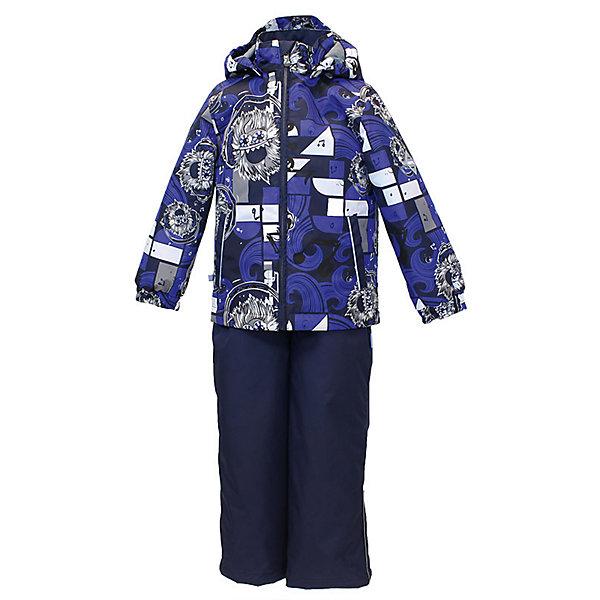 Комплект: куртка и полукомбинезон YOKO для мальчика HuppaВерхняя одежда<br>Характеристики товара:<br><br>• цвет: синий принт<br>• комплектация: куртка и полукомбинезон <br>• ткань: 100% полиэстер<br>• подкладка: тафта - 100% полиэстер<br>• утеплитель: в куртке и в брюках - 100% полиэстер 100 г<br>• температурный режим: от -5°С до +10°С<br>• водонепроницаемость: 10000 мм<br>• воздухопроницаемость: 10000 мм<br>• светоотражающие детали<br>• шов сидения проклеен<br>• эластичный шнур по низу куртки<br>• эластичный шнур с фиксатором внизу брючин<br>• съёмный капюшон с резинкой<br>• эластичные манжеты рукавов<br>• регулируемые низы брючин<br>• без внутренних швов<br>• резиновые подтяжки<br>• коллекция: весна-лето 2017<br>• страна бренда: Эстония<br><br>Такой модный демисезонный комплект  обеспечит детям тепло и комфорт. Он сделан из материала, отталкивающего воду, и дополнен подкладкой с утеплителем, поэтому изделие идеально подходит для межсезонья. Материал изделий - с мембранной технологией: защищая от влаги и ветра, он легко выводит лишнюю влагу наружу. Комплект очень симпатично смотрится. <br><br>Одежда и обувь от популярного эстонского бренда Huppa - отличный вариант одеть ребенка можно и комфортно. Вещи, выпускаемые компанией, качественные, продуманные и очень удобные. Для производства изделий используются только безопасные для детей материалы. Продукция от Huppa порадует и детей, и их родителей!<br><br>Комплект: куртка и полукомбинезон YOKO от бренда Huppa (Хуппа) можно купить в нашем интернет-магазине.<br><br>Ширина мм: 356<br>Глубина мм: 10<br>Высота мм: 245<br>Вес г: 519<br>Цвет: синий<br>Возраст от месяцев: 24<br>Возраст до месяцев: 36<br>Пол: Мужской<br>Возраст: Детский<br>Размер: 98,92,122,116,110,104<br>SKU: 5346753