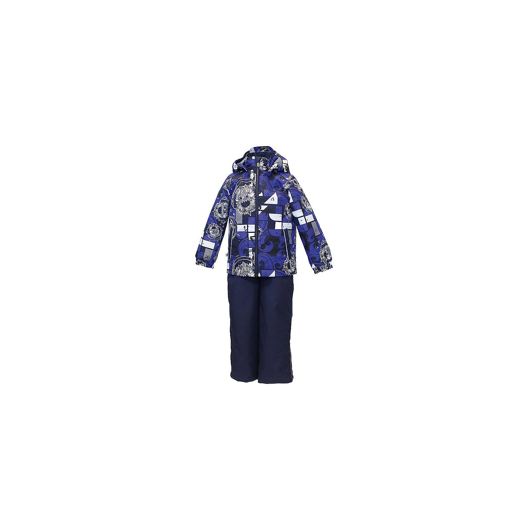 Комплект: куртка и полукомбинезон YOKO для мальчика HuppaВерхняя одежда<br>Характеристики товара:<br><br>• цвет: синий принт<br>• комплектация: куртка и полукомбинезон <br>• ткань: 100% полиэстер<br>• подкладка: тафта - 100% полиэстер<br>• утеплитель: в куртке и в брюках - 100% полиэстер 100 г<br>• температурный режим: от -5°С до +10°С<br>• водонепроницаемость: 10000 мм<br>• воздухопроницаемость: 10000 мм<br>• светоотражающие детали<br>• шов сидения проклеен<br>• эластичный шнур по низу куртки<br>• эластичный шнур с фиксатором внизу брючин<br>• съёмный капюшон с резинкой<br>• эластичные манжеты рукавов<br>• регулируемые низы брючин<br>• без внутренних швов<br>• резиновые подтяжки<br>• коллекция: весна-лето 2017<br>• страна бренда: Эстония<br><br>Такой модный демисезонный комплект  обеспечит детям тепло и комфорт. Он сделан из материала, отталкивающего воду, и дополнен подкладкой с утеплителем, поэтому изделие идеально подходит для межсезонья. Материал изделий - с мембранной технологией: защищая от влаги и ветра, он легко выводит лишнюю влагу наружу. Комплект очень симпатично смотрится. <br><br>Одежда и обувь от популярного эстонского бренда Huppa - отличный вариант одеть ребенка можно и комфортно. Вещи, выпускаемые компанией, качественные, продуманные и очень удобные. Для производства изделий используются только безопасные для детей материалы. Продукция от Huppa порадует и детей, и их родителей!<br><br>Комплект: куртка и полукомбинезон YOKO от бренда Huppa (Хуппа) можно купить в нашем интернет-магазине.<br><br>Ширина мм: 356<br>Глубина мм: 10<br>Высота мм: 245<br>Вес г: 519<br>Цвет: синий<br>Возраст от месяцев: 72<br>Возраст до месяцев: 84<br>Пол: Мужской<br>Возраст: Детский<br>Размер: 122,92,98,104,110,116<br>SKU: 5346753