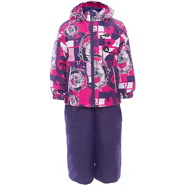 Комплект: куртка и полукомбинезон YOKO для девочки HuppaКомплекты<br>Характеристики товара:<br><br>• цвет: фуксия принт/тёмно-фиолетовый<br>• комплектация: куртка и полукомбинезон <br>• ткань: 100% полиэстер<br>• подкладка: тафта - 100% полиэстер<br>• утеплитель: в куртке и в брюках - 100% полиэстер 100 г<br>• температурный режим: от -5°С до +10°С<br>• водонепроницаемость: 10000 мм<br>• воздухопроницаемость: 10000 мм<br>• светоотражающие детали<br>• шов сидения проклеен<br>• эластичный шнур по низу куртки<br>• эластичный шнур с фиксатором внизу брючин<br>• съёмный капюшон с резинкой<br>• эластичные манжеты рукавов<br>• регулируемые низы брючин<br>• без внутренних швов<br>• резиновые подтяжки<br>• коллекция: весна-лето 2017<br>• страна бренда: Эстония<br><br>Такой модный демисезонный комплект  обеспечит детям тепло и комфорт. Он сделан из материала, отталкивающего воду, и дополнен подкладкой с утеплителем, поэтому изделие идеально подходит для межсезонья. Материал изделий - с мембранной технологией: защищая от влаги и ветра, он легко выводит лишнюю влагу наружу. Комплект очень симпатично смотрится. <br><br>Одежда и обувь от популярного эстонского бренда Huppa - отличный вариант одеть ребенка можно и комфортно. Вещи, выпускаемые компанией, качественные, продуманные и очень удобные. Для производства изделий используются только безопасные для детей материалы. Продукция от Huppa порадует и детей, и их родителей!<br><br>Комплект: куртка и полукомбинезон YOKO от бренда Huppa (Хуппа) можно купить в нашем интернет-магазине.<br>Ширина мм: 356; Глубина мм: 10; Высота мм: 245; Вес г: 519; Цвет: лиловый; Возраст от месяцев: 18; Возраст до месяцев: 24; Пол: Женский; Возраст: Детский; Размер: 92,122,116,110,104,98; SKU: 5346781;