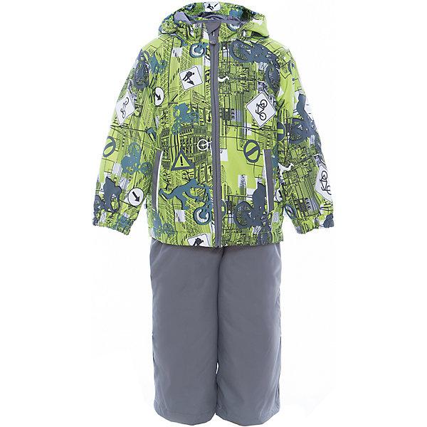 Комплект: куртка и полукомбинезон YOKO для мальчика HuppaКомплекты<br>Характеристики товара:<br><br>• цвет: лайм принт/серый<br>• комплектация: куртка и полукомбинезон <br>• ткань: 100% полиэстер<br>• подкладка: тафта - 100% полиэстер<br>• утеплитель: в куртке и в брюках - 100% полиэстер 100 г<br>• температурный режим: от -5°С до +10°С<br>• водонепроницаемость: 10000 мм<br>• воздухопроницаемость: 10000 мм<br>• светоотражающие детали<br>• шов сидения проклеен<br>• эластичный шнур по низу куртки<br>• эластичный шнур с фиксатором внизу брючин<br>• съёмный капюшон с резинкой<br>• эластичные манжеты рукавов<br>• регулируемые низы брючин<br>• без внутренних швов<br>• резиновые подтяжки<br>• коллекция: весна-лето 2017<br>• страна бренда: Эстония<br><br>Такой модный демисезонный комплект  обеспечит детям тепло и комфорт. Он сделан из материала, отталкивающего воду, и дополнен подкладкой с утеплителем, поэтому изделие идеально подходит для межсезонья. Материал изделий - с мембранной технологией: защищая от влаги и ветра, он легко выводит лишнюю влагу наружу. Комплект очень симпатично смотрится. <br><br>Одежда и обувь от популярного эстонского бренда Huppa - отличный вариант одеть ребенка можно и комфортно. Вещи, выпускаемые компанией, качественные, продуманные и очень удобные. Для производства изделий используются только безопасные для детей материалы. Продукция от Huppa порадует и детей, и их родителей!<br><br>Комплект: куртка и полукомбинезон YOKO от бренда Huppa (Хуппа) можно купить в нашем интернет-магазине.<br>Ширина мм: 356; Глубина мм: 10; Высота мм: 245; Вес г: 519; Цвет: зеленый; Возраст от месяцев: 18; Возраст до месяцев: 24; Пол: Мужской; Возраст: Детский; Размер: 98,92,122,116,110,104; SKU: 5346788;