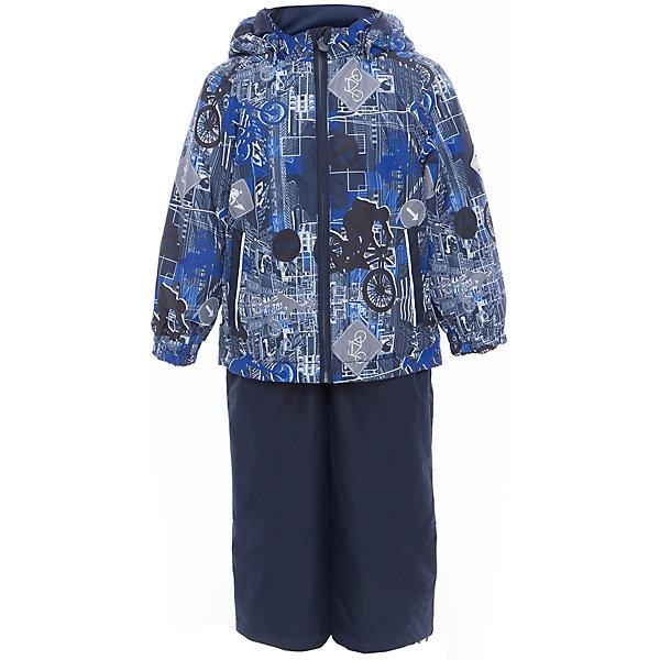 Комплект: куртка и полукомбинезон YOKO для мальчика HuppaВерхняя одежда<br>Характеристики товара:<br><br>• цвет: тёмно-синий принт<br>• комплектация: куртка и полукомбинезон <br>• ткань: 100% полиэстер<br>• подкладка: тафта - 100% полиэстер<br>• утеплитель: в куртке и в брюках - 100% полиэстер 100 г<br>• температурный режим: от -5°С до +10°С<br>• водонепроницаемость: 10000 мм<br>• воздухопроницаемость: 10000 мм<br>• светоотражающие детали<br>• шов сидения проклеен<br>• эластичный шнур по низу куртки<br>• эластичный шнур с фиксатором внизу брючин<br>• съёмный капюшон с резинкой<br>• эластичные манжеты рукавов<br>• регулируемые низы брючин<br>• без внутренних швов<br>• резиновые подтяжки<br>• коллекция: весна-лето 2017<br>• страна бренда: Эстония<br><br>Такой модный демисезонный комплект  обеспечит детям тепло и комфорт. Он сделан из материала, отталкивающего воду, и дополнен подкладкой с утеплителем, поэтому изделие идеально подходит для межсезонья. Материал изделий - с мембранной технологией: защищая от влаги и ветра, он легко выводит лишнюю влагу наружу. Комплект очень симпатично смотрится. <br><br>Одежда и обувь от популярного эстонского бренда Huppa - отличный вариант одеть ребенка можно и комфортно. Вещи, выпускаемые компанией, качественные, продуманные и очень удобные. Для производства изделий используются только безопасные для детей материалы. Продукция от Huppa порадует и детей, и их родителей!<br><br>Комплект: куртка и полукомбинезон YOKO от бренда Huppa (Хуппа) можно купить в нашем интернет-магазине.<br><br>Ширина мм: 356<br>Глубина мм: 10<br>Высота мм: 245<br>Вес г: 519<br>Цвет: синий<br>Возраст от месяцев: 18<br>Возраст до месяцев: 24<br>Пол: Мужской<br>Возраст: Детский<br>Размер: 92,122,98,104,110,116<br>SKU: 5346795