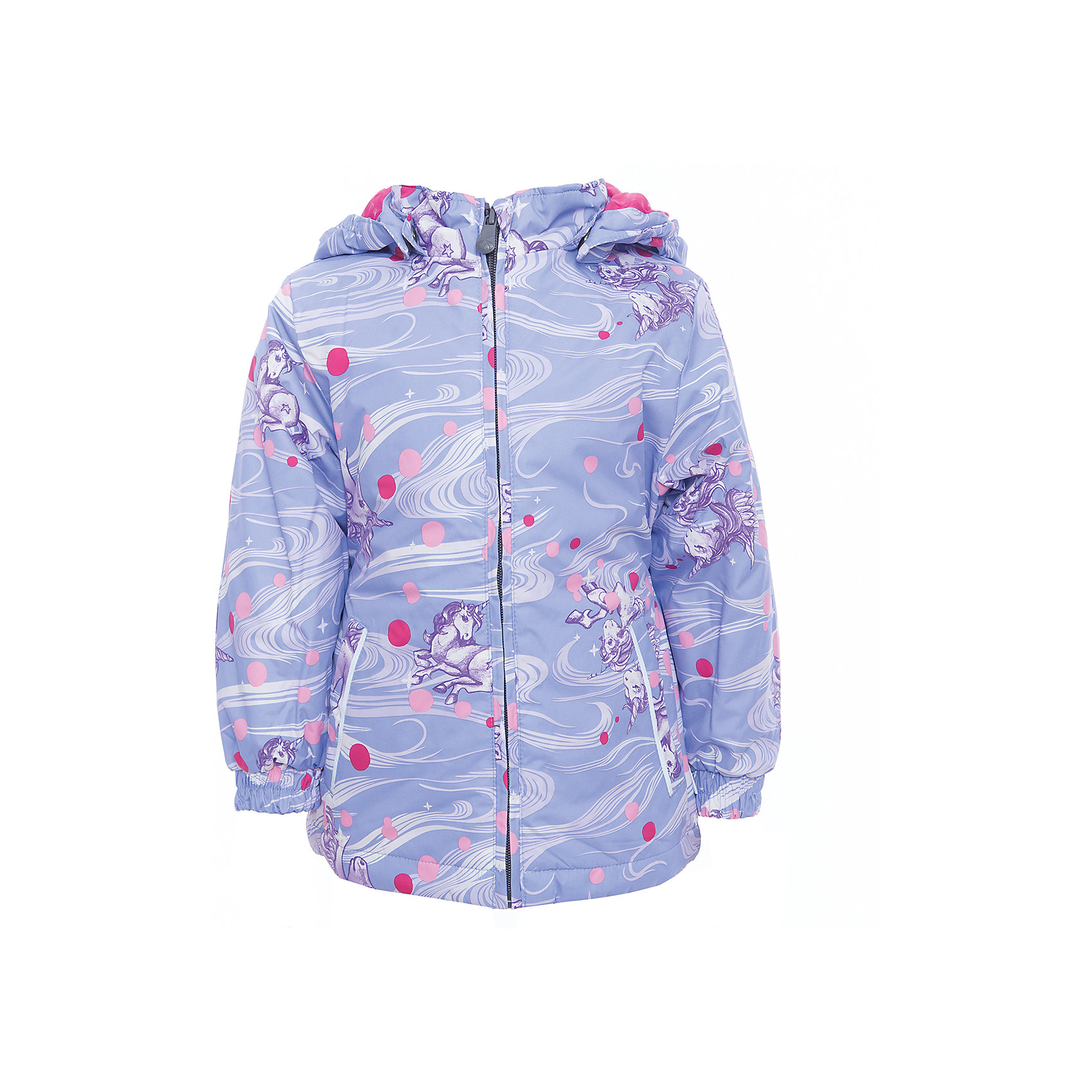 Куртка для девочки JOLY HuppaВерхняя одежда<br>Характеристики товара:<br><br>• цвет: сиреневый принт<br>• ткань: 100% полиэстер<br>• подкладка: тафта - 100% полиэстер<br>• утеплитель: 100% полиэстер 100 г<br>• температурный режим: от -5°С до +10°С<br>• водонепроницаемость: 5000 мм<br>• воздухопроницаемость: 5000 мм<br>• светоотражающие детали<br>• эластичные манжеты<br>• молния<br>• съёмный капюшон с резинкой<br>• карманы<br>• комфортная посадка<br>• коллекция: весна-лето 2017<br>• страна бренда: Эстония<br><br>Такая легкая и стильная куртка обеспечит детям тепло и комфорт. Она сделана из материала, отталкивающего воду, и дополнено подкладкой с утеплителем, поэтому изделие идеально подходит для межсезонья. Материал изделия - с мембранной технологией: защищая от влаги и ветра, он легко выводит лишнюю влагу наружу. Для удобства сделан капюшон. Куртка очень симпатично смотрится, яркая расцветка и крой добавляют ему оригинальности. Модель была разработана специально для детей.<br><br>Одежда и обувь от популярного эстонского бренда Huppa - отличный вариант одеть ребенка можно и комфортно. Вещи, выпускаемые компанией, качественные, продуманные и очень удобные. Для производства изделий используются только безопасные для детей материалы. Продукция от Huppa порадует и детей, и их родителей!<br><br>Куртку для девочки JOLY от бренда Huppa (Хуппа) можно купить в нашем интернет-магазине.<br><br>Ширина мм: 356<br>Глубина мм: 10<br>Высота мм: 245<br>Вес г: 519<br>Цвет: розовый<br>Возраст от месяцев: 18<br>Возраст до месяцев: 24<br>Пол: Женский<br>Возраст: Детский<br>Размер: 122,128,92,134,98,104,110,116<br>SKU: 5346811