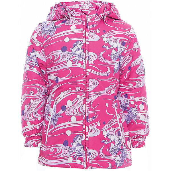Куртка для девочки JOLY HuppaВерхняя одежда<br>Характеристики товара:<br><br>• цвет: фуксия принт<br>• ткань: 100% полиэстер<br>• подкладка: тафта - 100% полиэстер<br>• утеплитель: 100% полиэстер 100 г<br>• температурный режим: от -5°С до +10°С<br>• водонепроницаемость: 5000 мм<br>• воздухопроницаемость: 5000 мм<br>• светоотражающие детали<br>• эластичные манжеты<br>• молния<br>• съёмный капюшон с резинкой<br>• карманы<br>• комфортная посадка<br>• коллекция: весна-лето 2017<br>• страна бренда: Эстония<br><br>Такая легкая и стильная куртка обеспечит детям тепло и комфорт. Она сделана из материала, отталкивающего воду, и дополнено подкладкой с утеплителем, поэтому изделие идеально подходит для межсезонья. Материал изделия - с мембранной технологией: защищая от влаги и ветра, он легко выводит лишнюю влагу наружу. Для удобства сделан капюшон. Куртка очень симпатично смотрится, яркая расцветка и крой добавляют ему оригинальности. Модель была разработана специально для детей.<br><br>Одежда и обувь от популярного эстонского бренда Huppa - отличный вариант одеть ребенка можно и комфортно. Вещи, выпускаемые компанией, качественные, продуманные и очень удобные. Для производства изделий используются только безопасные для детей материалы. Продукция от Huppa порадует и детей, и их родителей!<br><br>Куртку для девочки JOLY от бренда Huppa (Хуппа) можно купить в нашем интернет-магазине.<br><br>Ширина мм: 356<br>Глубина мм: 10<br>Высота мм: 245<br>Вес г: 519<br>Цвет: лиловый<br>Возраст от месяцев: 96<br>Возраст до месяцев: 108<br>Пол: Женский<br>Возраст: Детский<br>Размер: 134,128,92,122,116,110,104,98<br>SKU: 5346820