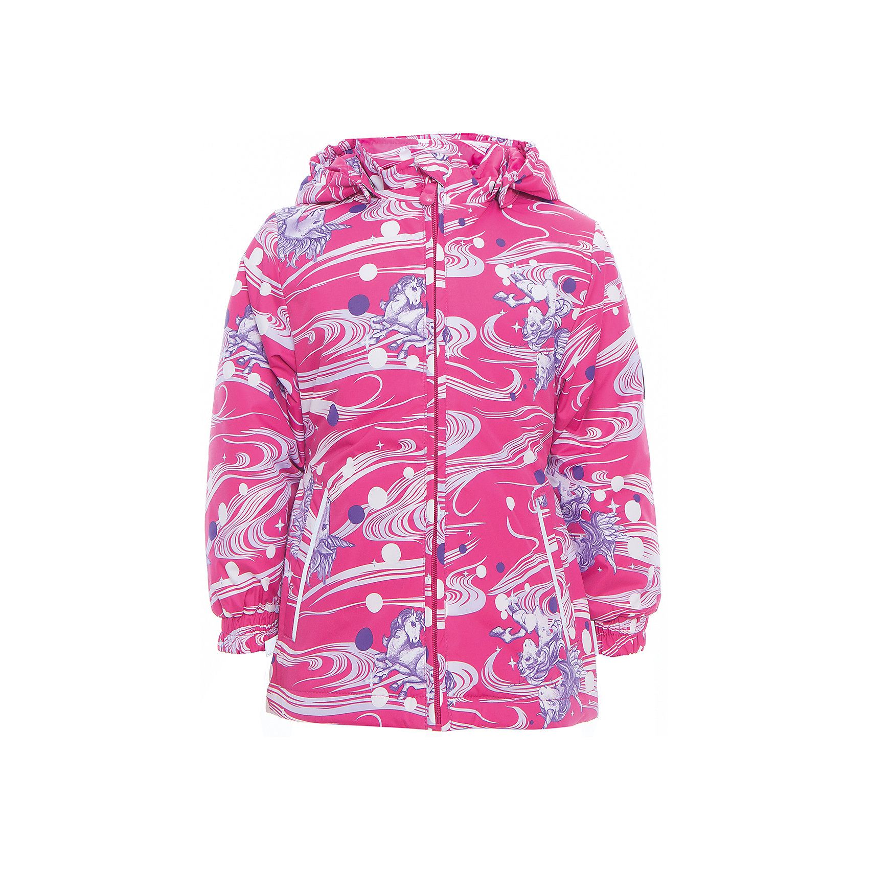 Куртка для девочки JOLY HuppaВерхняя одежда<br>Характеристики товара:<br><br>• цвет: фуксия принт<br>• ткань: 100% полиэстер<br>• подкладка: тафта - 100% полиэстер<br>• утеплитель: 100% полиэстер 100 г<br>• температурный режим: от -5°С до +10°С<br>• водонепроницаемость: 5000 мм<br>• воздухопроницаемость: 5000 мм<br>• светоотражающие детали<br>• эластичные манжеты<br>• молния<br>• съёмный капюшон с резинкой<br>• карманы<br>• комфортная посадка<br>• коллекция: весна-лето 2017<br>• страна бренда: Эстония<br><br>Такая легкая и стильная куртка обеспечит детям тепло и комфорт. Она сделана из материала, отталкивающего воду, и дополнено подкладкой с утеплителем, поэтому изделие идеально подходит для межсезонья. Материал изделия - с мембранной технологией: защищая от влаги и ветра, он легко выводит лишнюю влагу наружу. Для удобства сделан капюшон. Куртка очень симпатично смотрится, яркая расцветка и крой добавляют ему оригинальности. Модель была разработана специально для детей.<br><br>Одежда и обувь от популярного эстонского бренда Huppa - отличный вариант одеть ребенка можно и комфортно. Вещи, выпускаемые компанией, качественные, продуманные и очень удобные. Для производства изделий используются только безопасные для детей материалы. Продукция от Huppa порадует и детей, и их родителей!<br><br>Куртку для девочки JOLY от бренда Huppa (Хуппа) можно купить в нашем интернет-магазине.<br><br>Ширина мм: 356<br>Глубина мм: 10<br>Высота мм: 245<br>Вес г: 519<br>Цвет: фиолетовый<br>Возраст от месяцев: 96<br>Возраст до месяцев: 108<br>Пол: Женский<br>Возраст: Детский<br>Размер: 134,92,98,104,110,116,122,128<br>SKU: 5346820