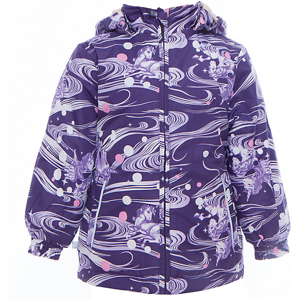 Куртка для девочки JOLY HuppaВерхняя одежда<br>Характеристики товара:<br><br>• цвет: тёмно-фиолетовый принт<br>• ткань: 100% полиэстер<br>• подкладка: тафта - 100% полиэстер<br>• утеплитель: 100% полиэстер 100 г<br>• температурный режим: от -5°С до +10°С<br>• водонепроницаемость: 5000 мм<br>• воздухопроницаемость: 5000 мм<br>• светоотражающие детали<br>• эластичные манжеты<br>• молния<br>• съёмный капюшон с резинкой<br>• карманы<br>• комфортная посадка<br>• коллекция: весна-лето 2017<br>• страна бренда: Эстония<br><br>Такая легкая и стильная куртка обеспечит детям тепло и комфорт. Она сделана из материала, отталкивающего воду, и дополнено подкладкой с утеплителем, поэтому изделие идеально подходит для межсезонья. Материал изделия - с мембранной технологией: защищая от влаги и ветра, он легко выводит лишнюю влагу наружу. Для удобства сделан капюшон. Куртка очень симпатично смотрится, яркая расцветка и крой добавляют ему оригинальности. Модель была разработана специально для детей.<br><br>Одежда и обувь от популярного эстонского бренда Huppa - отличный вариант одеть ребенка можно и комфортно. Вещи, выпускаемые компанией, качественные, продуманные и очень удобные. Для производства изделий используются только безопасные для детей материалы. Продукция от Huppa порадует и детей, и их родителей!<br><br>Куртку для девочки JOLY от бренда Huppa (Хуппа) можно купить в нашем интернет-магазине.<br>Ширина мм: 356; Глубина мм: 10; Высота мм: 245; Вес г: 519; Цвет: розовый; Возраст от месяцев: 18; Возраст до месяцев: 24; Пол: Женский; Возраст: Детский; Размер: 92,134,128,122,116,110,104,98; SKU: 5346829;