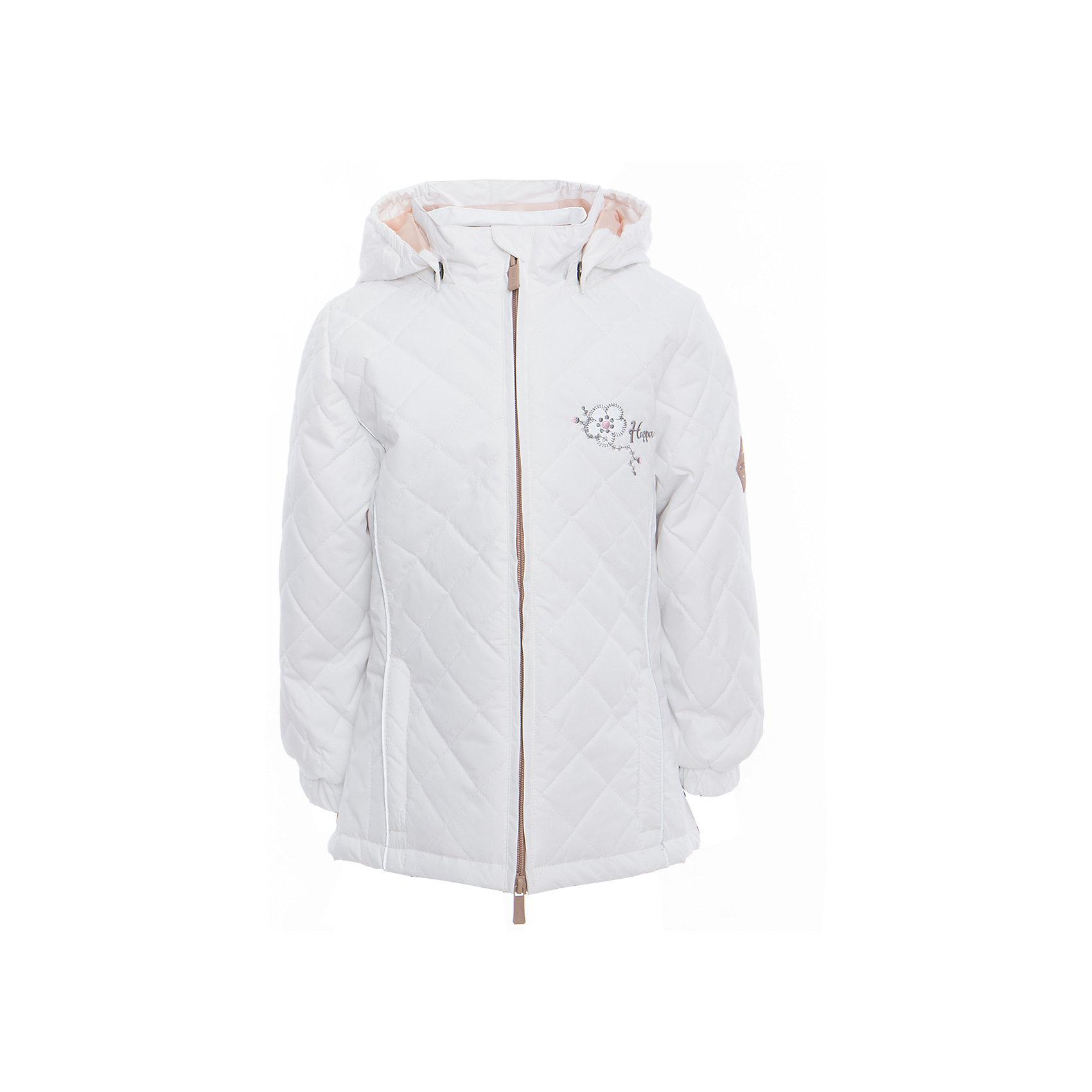 Куртка для девочки RIMMA HuppaВерхняя одежда<br>Характеристики товара:<br><br>• цвет: белый<br>• ткань: 100% полиэстер<br>• подкладка: тафта - 100% полиэстер<br>• утеплитель: 100% полиэстер 100 г<br>• температурный режим: от -5°С до +10°С<br>• водонепроницаемость: 5000 мм<br>• воздухопроницаемость: 5000 мм<br>• светоотражающие детали<br>• эластичные манжеты<br>• молния<br>• съёмный капюшон с резинкой<br>• декорирована вышивкой<br>• карманы на молнии<br>• комфортная посадка<br>• коллекция: весна-лето 2017<br>• страна бренда: Эстония<br><br>Эта стильная куртка обеспечит детям тепло и комфорт. Она сделана из материала, отталкивающего воду, и дополнено подкладкой с утеплителем, поэтому изделие идеально подходит для межсезонья. Материал изделия - с мембранной технологией: защищая от влаги и ветра, он легко выводит лишнюю влагу наружу. Для удобства сделан капюшон. Куртка очень симпатично смотрится, яркая расцветка и крой добавляют ему оригинальности. Модель была разработана специально для детей.<br><br>Одежда и обувь от популярного эстонского бренда Huppa - отличный вариант одеть ребенка можно и комфортно. Вещи, выпускаемые компанией, качественные, продуманные и очень удобные. Для производства изделий используются только безопасные для детей материалы. Продукция от Huppa порадует и детей, и их родителей!<br><br>Куртку для девочки RIMMA от бренда Huppa (Хуппа) можно купить в нашем интернет-магазине.<br><br>Ширина мм: 356<br>Глубина мм: 10<br>Высота мм: 245<br>Вес г: 519<br>Цвет: белый<br>Возраст от месяцев: 144<br>Возраст до месяцев: 156<br>Пол: Женский<br>Возраст: Детский<br>Размер: 158,104,110,116,122,128,134,140,146,152<br>SKU: 5346883