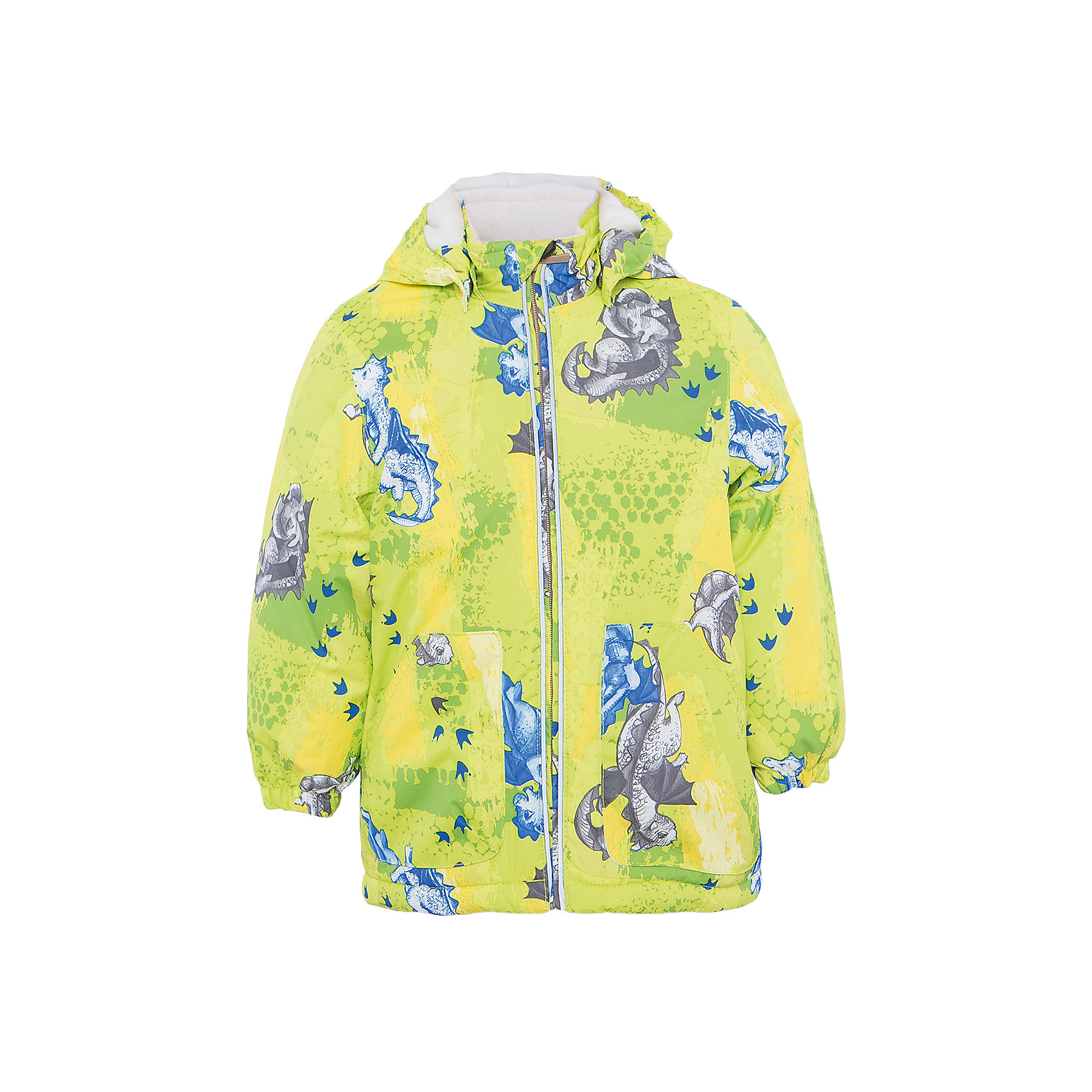 Куртка для мальчика BERTY HuppaДемисезонные куртки<br>Характеристики товара:<br><br>• цвет: лайм принт<br>• ткань: 100% полиэстер<br>• подкладка: Coral-fleece, смесь хлопка и полиэстера, в рукавах тафат - 100% полиэстер<br>• утеплитель: 100% полиэстер 100 г<br>• температурный режим: от -5°С до +10°С<br>• водонепроницаемость: 5000 мм<br>• воздухопроницаемость: 5000 мм<br>• светоотражающие детали<br>• эластичные манжеты<br>• эластичный шнурок + фиксатор<br>• защита подбородка<br>• съёмный капюшон с резинкой<br>• комфортная посадка<br>• коллекция: весна-лето 2017<br>• страна бренда: Эстония<br><br>Такая легкая и стильная куртка обеспечит детям тепло и комфорт. Она сделана из материала, отталкивающего воду, и дополнено подкладкой с утеплителем, поэтому изделие идеально подходит для межсезонья. Материал изделия - с мембранной технологией: защищая от влаги и ветра, он легко выводит лишнюю влагу наружу. Для удобства сделан капюшон. Куртка очень симпатично смотрится, яркая расцветка и крой добавляют ему оригинальности. Модель была разработана специально для детей.<br><br>Одежда и обувь от популярного эстонского бренда Huppa - отличный вариант одеть ребенка можно и комфортно. Вещи, выпускаемые компанией, качественные, продуманные и очень удобные. Для производства изделий используются только безопасные для детей материалы. Продукция от Huppa порадует и детей, и их родителей!<br><br>Куртку для мальчика BERTY от бренда Huppa (Хуппа) можно купить в нашем интернет-магазине.<br><br>Ширина мм: 356<br>Глубина мм: 10<br>Высота мм: 245<br>Вес г: 519<br>Цвет: зеленый<br>Возраст от месяцев: 48<br>Возраст до месяцев: 60<br>Пол: Мужской<br>Возраст: Детский<br>Размер: 110,80,86,92,98,104<br>SKU: 5346945