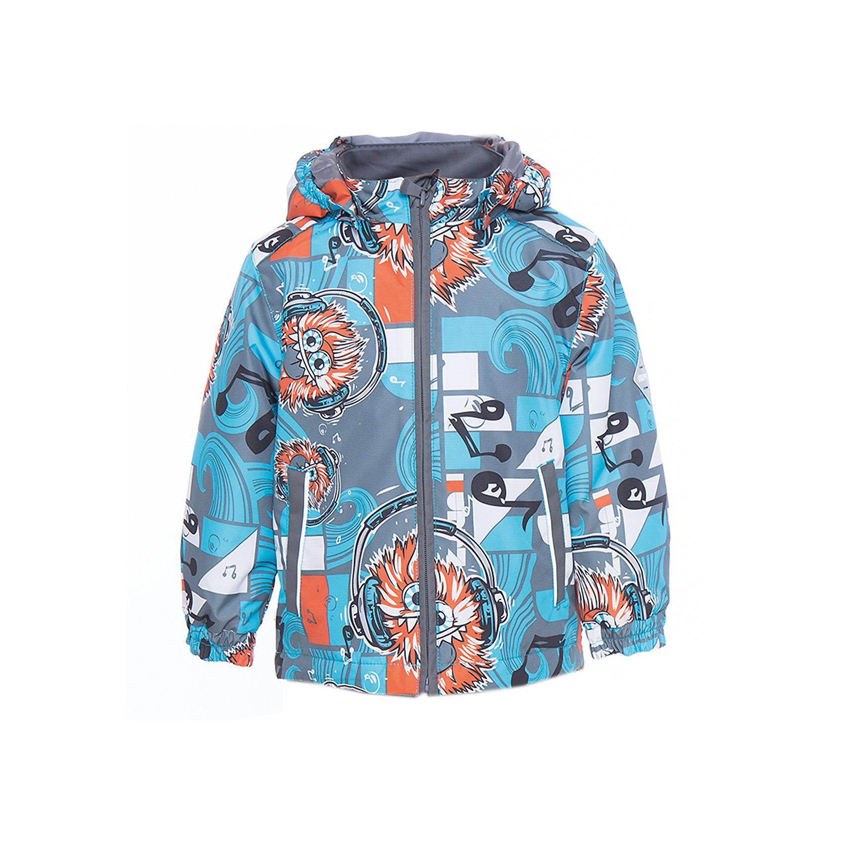 Куртка для мальчика BERTY HuppaВерхняя одежда<br>Характеристики товара:<br><br>• цвет: голубой принт<br>• ткань: 100% полиэстер<br>• подкладка: Coral-fleece, смесь хлопка и полиэстера, в рукавах тафат - 100% полиэстер<br>• утеплитель: 100% полиэстер 100 г<br>• температурный режим: от -5°С до +10°С<br>• водонепроницаемость: 10000 мм<br>• воздухопроницаемость: 10000 мм<br>• светоотражающие детали<br>• эластичные манжеты<br>• эластичный шнурок + фиксатор<br>• защита подбородка<br>• съёмный капюшон с резинкой<br>• комфортная посадка<br>• коллекция: весна-лето 2017<br>• страна бренда: Эстония<br><br>Такая легкая и стильная куртка обеспечит детям тепло и комфорт. Она сделана из материала, отталкивающего воду, и дополнено подкладкой с утеплителем, поэтому изделие идеально подходит для межсезонья. Материал изделия - с мембранной технологией: защищая от влаги и ветра, он легко выводит лишнюю влагу наружу. Для удобства сделан капюшон. Куртка очень симпатично смотрится, яркая расцветка и крой добавляют ему оригинальности. Модель была разработана специально для детей.<br><br>Одежда и обувь от популярного эстонского бренда Huppa - отличный вариант одеть ребенка можно и комфортно. Вещи, выпускаемые компанией, качественные, продуманные и очень удобные. Для производства изделий используются только безопасные для детей материалы. Продукция от Huppa порадует и детей, и их родителей!<br><br>Куртку для мальчика BERTY от бренда Huppa (Хуппа) можно купить в нашем интернет-магазине.<br><br>Ширина мм: 356<br>Глубина мм: 10<br>Высота мм: 245<br>Вес г: 519<br>Цвет: голубой<br>Возраст от месяцев: 48<br>Возраст до месяцев: 60<br>Пол: Мужской<br>Возраст: Детский<br>Размер: 110,80,86,92,98,104<br>SKU: 5346952