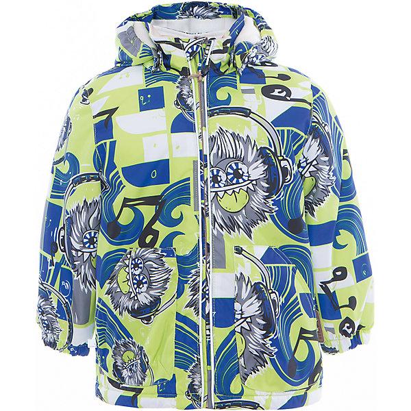 Куртка для мальчика BERTY HuppaДемисезонные куртки<br>Характеристики товара:<br><br>• цвет: лайм принт<br>• ткань: 100% полиэстер<br>• подкладка: Coral-fleece, смесь хлопка и полиэстера, в рукавах тафат - 100% полиэстер<br>• утеплитель: 100% полиэстер 100 г<br>• температурный режим: от -5°С до +10°С<br>• водонепроницаемость: 10000 мм<br>• воздухопроницаемость: 10000 мм<br>• светоотражающие детали<br>• эластичные манжеты<br>• эластичный шнурок + фиксатор<br>• защита подбородка<br>• съёмный капюшон с резинкой<br>• комфортная посадка<br>• коллекция: весна-лето 2017<br>• страна бренда: Эстония<br><br>Такая легкая и стильная куртка обеспечит детям тепло и комфорт. Она сделана из материала, отталкивающего воду, и дополнено подкладкой с утеплителем, поэтому изделие идеально подходит для межсезонья. Материал изделия - с мембранной технологией: защищая от влаги и ветра, он легко выводит лишнюю влагу наружу. Для удобства сделан капюшон. Куртка очень симпатично смотрится, яркая расцветка и крой добавляют ему оригинальности. Модель была разработана специально для детей.<br><br>Одежда и обувь от популярного эстонского бренда Huppa - отличный вариант одеть ребенка можно и комфортно. Вещи, выпускаемые компанией, качественные, продуманные и очень удобные. Для производства изделий используются только безопасные для детей материалы. Продукция от Huppa порадует и детей, и их родителей!<br><br>Куртку для мальчика BERTY от бренда Huppa (Хуппа) можно купить в нашем интернет-магазине.<br>Ширина мм: 356; Глубина мм: 10; Высота мм: 245; Вес г: 519; Цвет: зеленый; Возраст от месяцев: 12; Возраст до месяцев: 15; Пол: Мужской; Возраст: Детский; Размер: 80,98,104,110,86,92; SKU: 5346959;