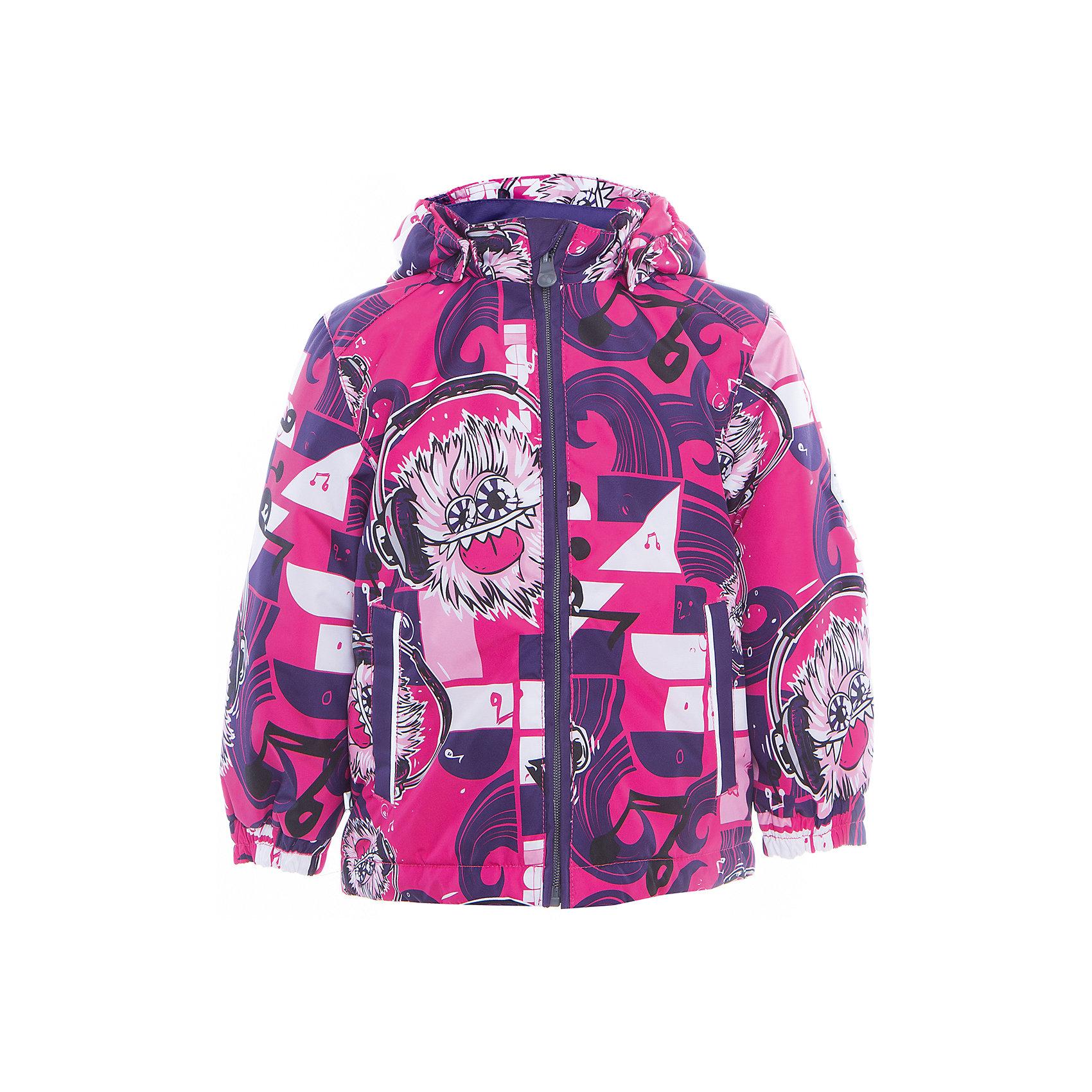 Куртка JODY для девочки HuppaДемисезонные куртки<br>Характеристики товара:<br><br>• цвет: розовый/фиолетовый<br>• ткань: 100% полиэстер<br>• подкладка: тафта - 100% полиэстер<br>• утеплитель: 100% полиэстер 100 г<br>• температурный режим: от -5°С до +15°С<br>• водонепроницаемость: 10000 мм<br>• воздухопроницаемость: 10000 мм<br>• светоотражающие детали<br>• эластичные манжеты<br>• молния<br>• съёмный капюшон<br>• комфортная посадка<br>• коллекция: весна-лето 2017<br>• страна бренда: Эстония<br><br>Эта стильная куртка обеспечит детям тепло и комфорт. Она сделана из материала, отталкивающего воду, и дополнено подкладкой с утеплителем, поэтому изделие идеально подходит для межсезонья. Материал изделия - с мембранной технологией: защищая от влаги и ветра, он легко выводит лишнюю влагу наружу. Для удобства сделан капюшон. Куртка очень симпатично смотрится, яркая расцветка и крой добавляют ему оригинальности. Модель была разработана специально для детей.<br><br>Одежда и обувь от популярного эстонского бренда Huppa - отличный вариант одеть ребенка можно и комфортно. Вещи, выпускаемые компанией, качественные, продуманные и очень удобные. Для производства изделий используются только безопасные для детей материалы. Продукция от Huppa порадует и детей, и их родителей!<br><br>Куртку JODY от бренда Huppa (Хуппа) можно купить в нашем интернет-магазине.<br><br>Ширина мм: 356<br>Глубина мм: 10<br>Высота мм: 245<br>Вес г: 519<br>Цвет: фиолетовый<br>Возраст от месяцев: 48<br>Возраст до месяцев: 60<br>Пол: Женский<br>Возраст: Детский<br>Размер: 110,116,122,128,134,140,92,146,98,152,104<br>SKU: 5346985