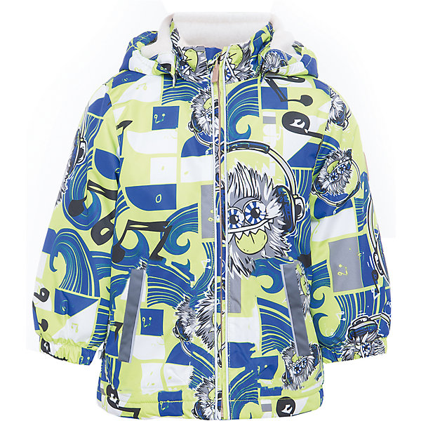 Куртка JODY для мальчика HuppaВерхняя одежда<br>Характеристики товара:<br><br>• цвет: лайм/синий<br>• ткань: 100% полиэстер<br>• подкладка: тафта - 100% полиэстер<br>• утеплитель: 100% полиэстер 100 г<br>• температурный режим: от -5°С до +15°С<br>• водонепроницаемость: 10000 мм<br>• воздухопроницаемость: 10000 мм<br>• светоотражающие детали<br>• эластичные манжеты<br>• молния<br>• съёмный капюшон<br>• комфортная посадка<br>• коллекция: весна-лето 2017<br>• страна бренда: Эстония<br><br>Эта стильная куртка обеспечит детям тепло и комфорт. Она сделана из материала, отталкивающего воду, и дополнено подкладкой с утеплителем, поэтому изделие идеально подходит для межсезонья. Материал изделия - с мембранной технологией: защищая от влаги и ветра, он легко выводит лишнюю влагу наружу. Для удобства сделан капюшон. Куртка очень симпатично смотрится, яркая расцветка и крой добавляют ему оригинальности. Модель была разработана специально для детей.<br><br>Одежда и обувь от популярного эстонского бренда Huppa - отличный вариант одеть ребенка можно и комфортно. Вещи, выпускаемые компанией, качественные, продуманные и очень удобные. Для производства изделий используются только безопасные для детей материалы. Продукция от Huppa порадует и детей, и их родителей!<br><br>Куртку JODY от бренда Huppa (Хуппа) можно купить в нашем интернет-магазине.<br>Ширина мм: 356; Глубина мм: 10; Высота мм: 245; Вес г: 519; Цвет: зеленый; Возраст от месяцев: 18; Возраст до месяцев: 24; Пол: Мужской; Возраст: Детский; Размер: 92,152,146,140,134,128,122,116,110,104,98; SKU: 5346997;