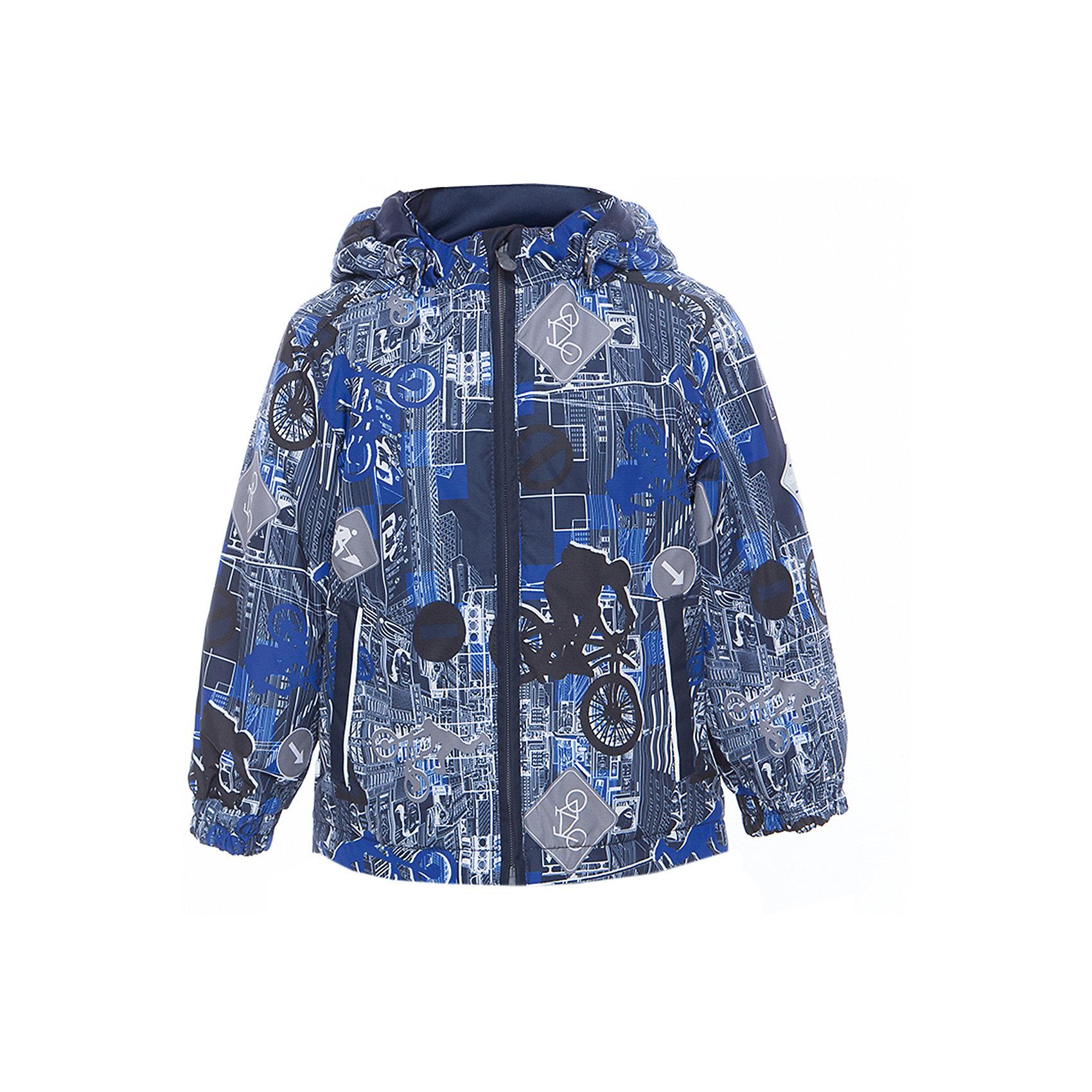 Куртка JODY для мальчика HuppaВерхняя одежда<br>Характеристики товара:<br><br>• цвет: синий<br>• ткань: 100% полиэстер<br>• подкладка: тафта - 100% полиэстер<br>• утеплитель: 100% полиэстер 100 г<br>• температурный режим: от -5°С до +15°С<br>• водонепроницаемость: 10000 мм<br>• воздухопроницаемость: 10000 мм<br>• светоотражающие детали<br>• эластичные манжеты<br>• молния<br>• съёмный капюшон<br>• комфортная посадка<br>• коллекция: весна-лето 2017<br>• страна бренда: Эстония<br><br>Эта стильная куртка обеспечит детям тепло и комфорт. Она сделана из материала, отталкивающего воду, и дополнено подкладкой с утеплителем, поэтому изделие идеально подходит для межсезонья. Материал изделия - с мембранной технологией: защищая от влаги и ветра, он легко выводит лишнюю влагу наружу. Для удобства сделан капюшон. Куртка очень симпатично смотрится, яркая расцветка и крой добавляют ему оригинальности. Модель была разработана специально для детей.<br><br>Одежда и обувь от популярного эстонского бренда Huppa - отличный вариант одеть ребенка можно и комфортно. Вещи, выпускаемые компанией, качественные, продуманные и очень удобные. Для производства изделий используются только безопасные для детей материалы. Продукция от Huppa порадует и детей, и их родителей!<br><br>Куртку JODY от бренда Huppa (Хуппа) можно купить в нашем интернет-магазине.<br><br>Ширина мм: 356<br>Глубина мм: 10<br>Высота мм: 245<br>Вес г: 519<br>Цвет: синий<br>Возраст от месяцев: 18<br>Возраст до месяцев: 24<br>Пол: Мужской<br>Возраст: Детский<br>Размер: 92,152,98,104,110,116,122,128,134,140,146<br>SKU: 5347021