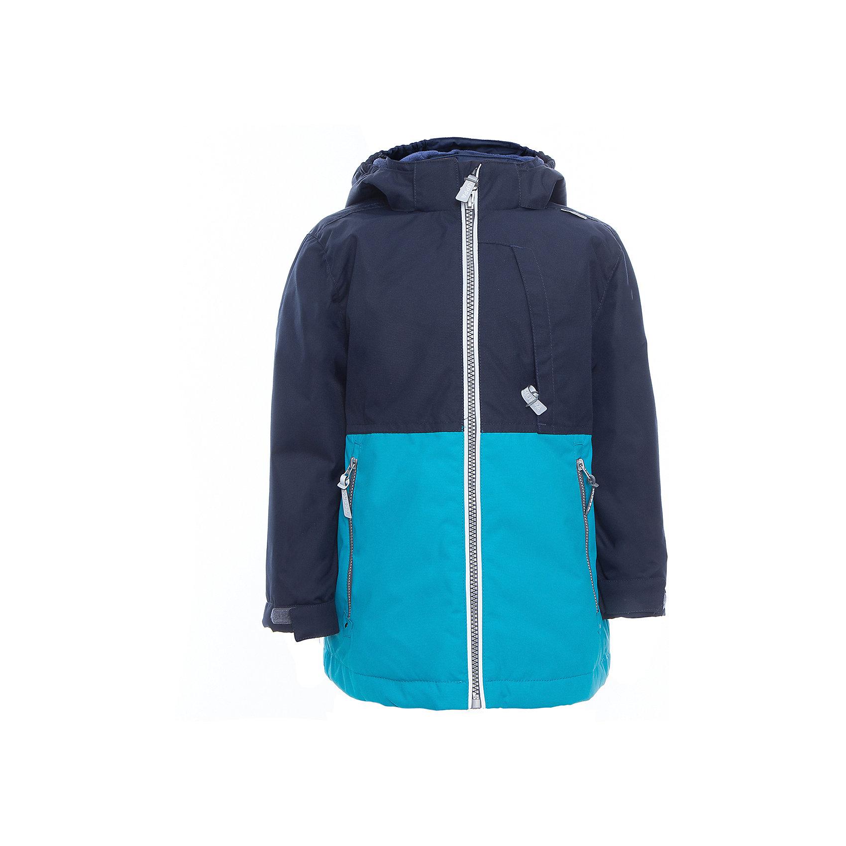 Куртка для мальчика TREVOR HuppaВерхняя одежда<br>Характеристики товара:<br><br>• цвет: тёмно-синий/голубой<br>• ткань: 100% полиэстер<br>• подкладка: тафта - 100% полиэстер<br>• утеплитель: 100% полиэстер 100 г<br>• температурный режим: от -5°С до +10°С<br>• водонепроницаемость: 10000 мм<br>• воздухопроницаемость: 10000 мм<br>• светоотражающие детали<br>• эластичные манжеты<br>• проклеенные швы<br>• карманы на молнии<br>• эластичный шнур + фиксатор<br>• съёмный капюшон с резинкой<br>• регулируемые манжеты<br>• комфортная посадка<br>• коллекция: весна-лето 2017<br>• страна бренда: Эстония<br><br>Эта стильная куртка обеспечит детям тепло и комфорт. Она сделана из материала, отталкивающего воду, и дополнено подкладкой с утеплителем, поэтому изделие идеально подходит для межсезонья. Материал изделия - с мембранной технологией: защищая от влаги и ветра, он легко выводит лишнюю влагу наружу. Для удобства сделан капюшон. Куртка очень симпатично смотрится, яркая расцветка и крой добавляют ему оригинальности. Модель была разработана специально для детей.<br><br>Одежда и обувь от популярного эстонского бренда Huppa - отличный вариант одеть ребенка можно и комфортно. Вещи, выпускаемые компанией, качественные, продуманные и очень удобные. Для производства изделий используются только безопасные для детей материалы. Продукция от Huppa порадует и детей, и их родителей!<br><br>Куртку для мальчика TREVOR от бренда Huppa (Хуппа) можно купить в нашем интернет-магазине.<br><br>Ширина мм: 356<br>Глубина мм: 10<br>Высота мм: 245<br>Вес г: 519<br>Цвет: голубой<br>Возраст от месяцев: 36<br>Возраст до месяцев: 48<br>Пол: Мужской<br>Возраст: Детский<br>Размер: 104,152,110,116,122,128,134,140,146<br>SKU: 5347033