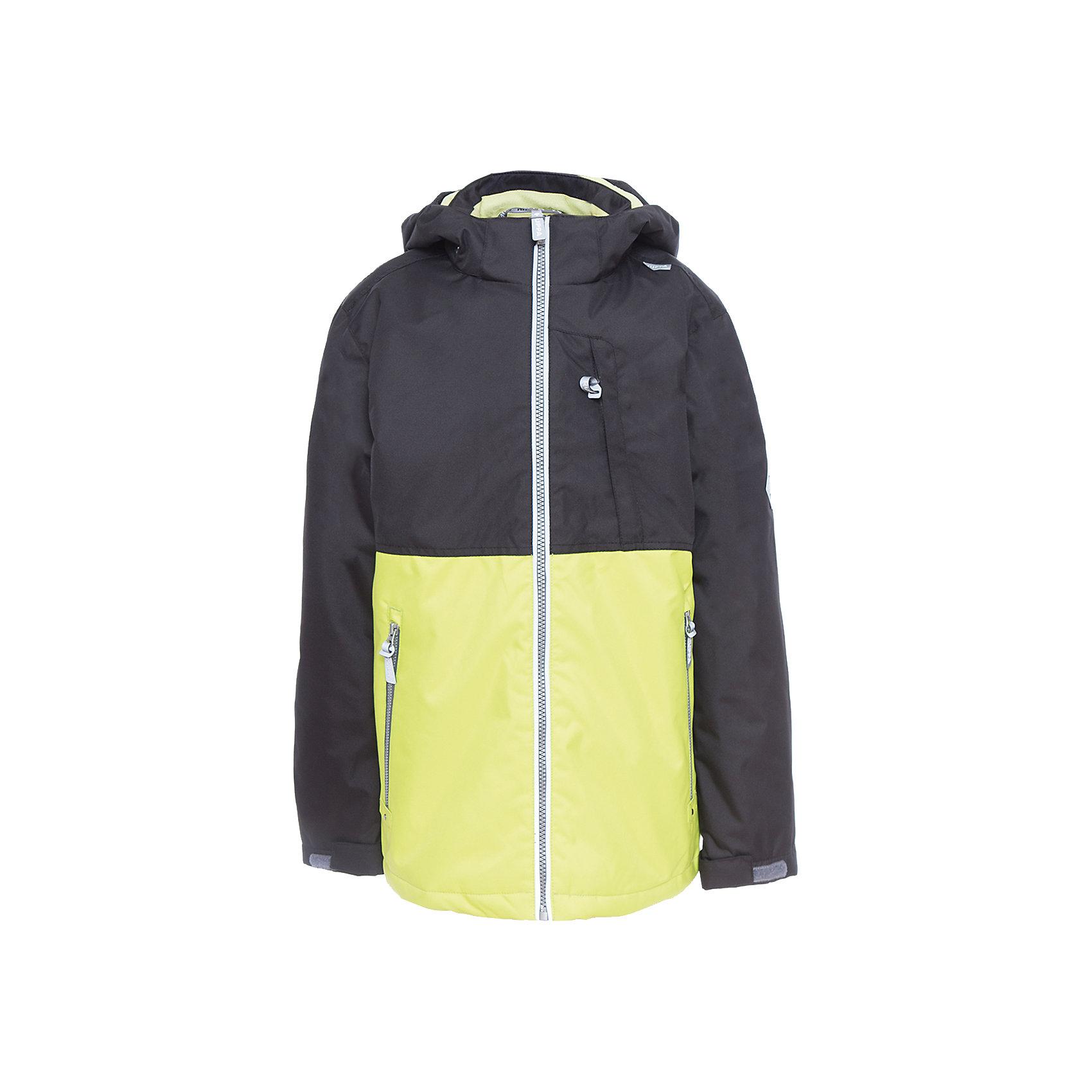 Куртка для мальчика TREVOR HuppaВерхняя одежда<br>Характеристики товара:<br><br>• цвет: чёрный/лайм<br>• ткань: 100% полиэстер<br>• подкладка: тафта - 100% полиэстер<br>• утеплитель: 100% полиэстер 100 г<br>• температурный режим: от -5°С до +10°С<br>• водонепроницаемость: 10000 мм<br>• воздухопроницаемость: 10000 мм<br>• светоотражающие детали<br>• эластичные манжеты<br>• проклеенные швы<br>• карманы на молнии<br>• эластичный шнур + фиксатор<br>• съёмный капюшон с резинкой<br>• регулируемые манжеты<br>• комфортная посадка<br>• коллекция: весна-лето 2017<br>• страна бренда: Эстония<br><br>Эта стильная куртка обеспечит детям тепло и комфорт. Она сделана из материала, отталкивающего воду, и дополнено подкладкой с утеплителем, поэтому изделие идеально подходит для межсезонья. Материал изделия - с мембранной технологией: защищая от влаги и ветра, он легко выводит лишнюю влагу наружу. Для удобства сделан капюшон. Куртка очень симпатично смотрится, яркая расцветка и крой добавляют ему оригинальности. Модель была разработана специально для детей.<br><br>Одежда и обувь от популярного эстонского бренда Huppa - отличный вариант одеть ребенка можно и комфортно. Вещи, выпускаемые компанией, качественные, продуманные и очень удобные. Для производства изделий используются только безопасные для детей материалы. Продукция от Huppa порадует и детей, и их родителей!<br><br>Куртку для мальчика TREVOR от бренда Huppa (Хуппа) можно купить в нашем интернет-магазине.<br><br>Ширина мм: 356<br>Глубина мм: 10<br>Высота мм: 245<br>Вес г: 519<br>Цвет: зеленый<br>Возраст от месяцев: 36<br>Возраст до месяцев: 48<br>Пол: Мужской<br>Возраст: Детский<br>Размер: 152,110,116,122,128,104,134,140,146<br>SKU: 5347043
