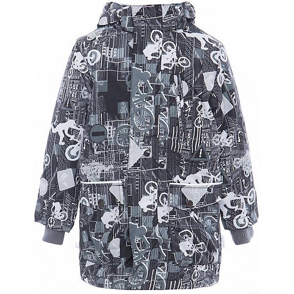 Куртка для мальчика ROLF HuppaВерхняя одежда<br>Характеристики товара:<br><br>• цвет: серый принт<br>• ткань: 100% полиэстер<br>• подкладка: тафта - 100% полиэстер<br>• утеплитель: 100% полиэстер 100 г<br>• температурный режим: от -5°С до +10°С<br>• водонепроницаемость: 10000 мм<br>• воздухопроницаемость: 10000 мм<br>• светоотражающие детали<br>• эластичные манжеты<br>• молния<br>• плечевые швы проклеены<br>• карманы на молнии<br>• эластичный шнур + фиксатор<br>• съёмный капюшон с резинкой<br>• внутренние вязаные манжеты<br>• комфортная посадка<br>• коллекция: весна-лето 2017<br>• страна бренда: Эстония<br><br>Эта стильная куртка обеспечит детям тепло и комфорт. Она сделана из материала, отталкивающего воду, и дополнено подкладкой с утеплителем, поэтому изделие идеально подходит для межсезонья. Материал изделия - с мембранной технологией: защищая от влаги и ветра, он легко выводит лишнюю влагу наружу. Для удобства сделан капюшон. Куртка очень симпатично смотрится, яркая расцветка и крой добавляют ему оригинальности. Модель была разработана специально для детей.<br><br>Одежда и обувь от популярного эстонского бренда Huppa - отличный вариант одеть ребенка можно и комфортно. Вещи, выпускаемые компанией, качественные, продуманные и очень удобные. Для производства изделий используются только безопасные для детей материалы. Продукция от Huppa порадует и детей, и их родителей!<br><br>Куртку для мальчика ROLF от бренда Huppa (Хуппа) можно купить в нашем интернет-магазине.<br><br>Ширина мм: 356<br>Глубина мм: 10<br>Высота мм: 245<br>Вес г: 519<br>Цвет: черный<br>Возраст от месяцев: 36<br>Возраст до месяцев: 48<br>Пол: Мужской<br>Возраст: Детский<br>Размер: 104,158,110,116,122,128,134,140,146,152<br>SKU: 5347088