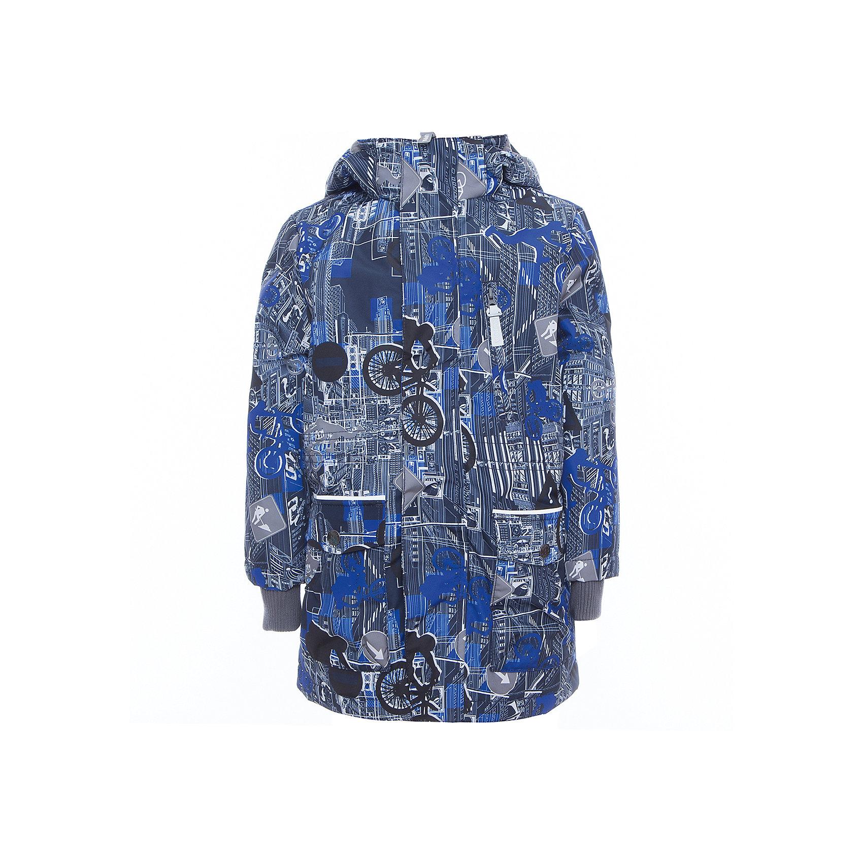 Куртка для мальчика ROLF HuppaВерхняя одежда<br>Характеристики товара:<br><br>• цвет: синий принт<br>• ткань: 100% полиэстер<br>• подкладка: тафта - 100% полиэстер<br>• утеплитель: 100% полиэстер 100 г<br>• температурный режим: от -5°С до +10°С<br>• водонепроницаемость: 10000 мм<br>• воздухопроницаемость: 10000 мм<br>• светоотражающие детали<br>• эластичные манжеты<br>• молния<br>• плечевые швы проклеены<br>• карманы на молнии<br>• эластичный шнур + фиксатор<br>• съёмный капюшон с резинкой<br>• внутренние вязаные манжеты<br>• комфортная посадка<br>• коллекция: весна-лето 2017<br>• страна бренда: Эстония<br><br>Эта стильная куртка обеспечит детям тепло и комфорт. Она сделана из материала, отталкивающего воду, и дополнено подкладкой с утеплителем, поэтому изделие идеально подходит для межсезонья. Материал изделия - с мембранной технологией: защищая от влаги и ветра, он легко выводит лишнюю влагу наружу. Для удобства сделан капюшон. Куртка очень симпатично смотрится, яркая расцветка и крой добавляют ему оригинальности. Модель была разработана специально для детей.<br><br>Одежда и обувь от популярного эстонского бренда Huppa - отличный вариант одеть ребенка можно и комфортно. Вещи, выпускаемые компанией, качественные, продуманные и очень удобные. Для производства изделий используются только безопасные для детей материалы. Продукция от Huppa порадует и детей, и их родителей!<br><br>Куртку для мальчика ROLF от бренда Huppa (Хуппа) можно купить в нашем интернет-магазине.<br><br>Ширина мм: 356<br>Глубина мм: 10<br>Высота мм: 245<br>Вес г: 519<br>Цвет: синий<br>Возраст от месяцев: 36<br>Возраст до месяцев: 48<br>Пол: Мужской<br>Возраст: Детский<br>Размер: 104,110,116,122,128,134,140,146,152,158<br>SKU: 5347099