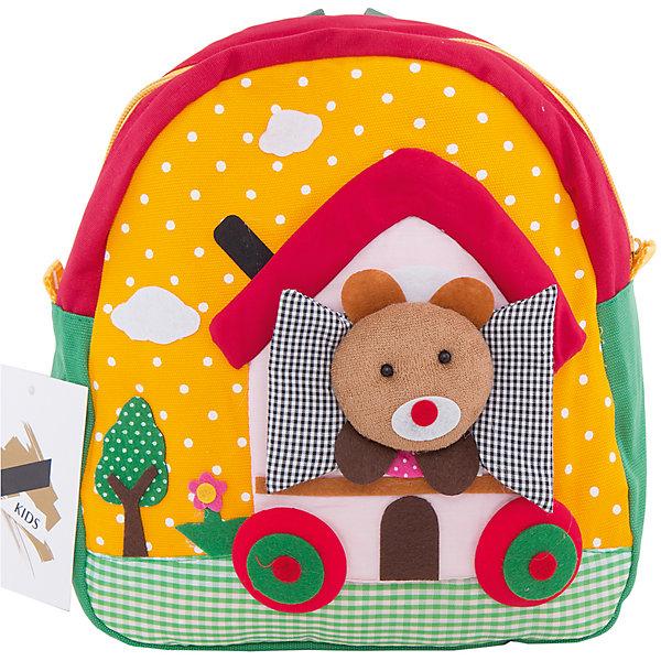 Рюкзак VITACCIДетские сумки<br>Характеристики:<br><br>• Тип сумки: рюкзак<br>• Пол: для мальчика<br>• Цвет: желтый<br>• Сезон: весна-лето<br>• Тематика рисунка: путешествие<br>• Тип застежки: молния<br>• Лямки регулируются по длине<br>• Одно отделение <br>• Предусмотрена ручка-петля<br>• Материал: текстиль <br>• Габариты: ширина днища – 9 см, высота – 25 см<br>• Размеры лямок (Ш*Д): 23*52 см<br>• Вес: 350 г<br>• Особенности ухода: влажная чистка, сухая чистка<br><br>Рюкзак VITACCI от лидера российско-итальянского предприятия, которое специализируется на выпуске высококачественной обуви и аксессуаров как для взрослых, так и для детей. Детские сумки этого торгового бренда изготавливаются с учетом анатомических особенностей детей и имеют эргономичную форму. Форма и дизайн сумок разрабатывается итальянскими ведущими дизайнерами и отражает новейшие тенденции в мире моды. Особенность этого торгового бренда заключается в эксклюзивном сочетании материалов разных фактур и декорирование изделий стильными аксессуарами. <br><br>Рюкзак VITACCI изготовлен из экологически безопасного и гипоаллергенного текстиля. У рюкзака предусмотрено одно просторное отделение. Широкие лямки регулируются по длине. Рюкзак выполнен в брендовом дизайне: сочетание ярких цветов и объемной аппликации, изображающей путешествие медвежонка в домике на колесах. С таким рюкзачком особенно приятно отправляться в дальние поездки и путешествия!<br><br>Рюкзак VITACCI – это стильный аксессуар, который создаст неповторимый образ вашего ребенка! <br><br>Рюкзак VITACCI можно купить в нашем интернет-магазине.<br><br>Ширина мм: 170<br>Глубина мм: 157<br>Высота мм: 67<br>Вес г: 117<br>Цвет: белый<br>Возраст от месяцев: 36<br>Возраст до месяцев: 144<br>Пол: Женский<br>Возраст: Детский<br>Размер: one size<br>SKU: 5347425