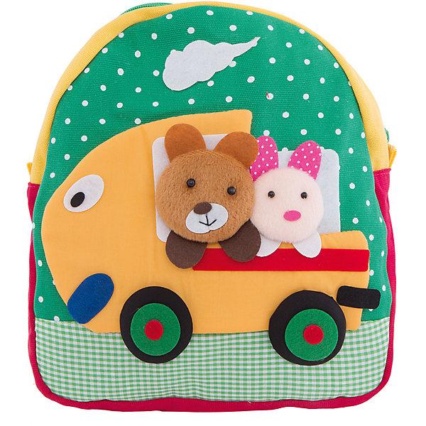 Рюкзак VITACCIДетские сумки<br>Характеристики:<br><br>• Тип сумки: рюкзак<br>• Пол: для мальчика<br>• Цвет: зеленый<br>• Сезон: весна-лето<br>• Тематика рисунка: путешествие<br>• Тип застежки: молния<br>• Лямки регулируются по длине<br>• Одно отделение <br>• Предусмотрена ручка-петля<br>• Материал: текстиль <br>• Габариты: ширина днища – 9 см, высота – 25 см<br>• Размеры лямок (Ш*Д): 23*52 см<br>• Вес: 350 г<br>• Особенности ухода: влажная чистка, сухая чистка<br><br>Рюкзак VITACCI от лидера российско-итальянского предприятия, которое специализируется на выпуске высококачественной обуви и аксессуаров как для взрослых, так и для детей. Детские сумки этого торгового бренда изготавливаются с учетом анатомических особенностей детей и имеют эргономичную форму. Форма и дизайн сумок разрабатывается итальянскими ведущими дизайнерами и отражает новейшие тенденции в мире моды. Особенность этого торгового бренда заключается в эксклюзивном сочетании материалов разных фактур и декорирование изделий стильными аксессуарами. <br><br>Рюкзак VITACCI изготовлен из экологически безопасного и гипоаллергенного текстиля. У рюкзака предусмотрено одно просторное отделение. Широкие лямки регулируются по длине. Рюкзак выполнен в брендовом дизайне: сочетание ярких цветов и объемной аппликации, изображающей путешествие медвежонка и зайчонка на автомобиле. С таким рюкзачком особенно приятно отправляться в дальние поездки и путешествия!<br><br>Рюкзак VITACCI – это стильный аксессуар, который создаст неповторимый образ вашего ребенка! <br><br>Рюкзак VITACCI можно купить в нашем интернет-магазине.<br><br>Ширина мм: 170<br>Глубина мм: 157<br>Высота мм: 67<br>Вес г: 117<br>Цвет: белый<br>Возраст от месяцев: 36<br>Возраст до месяцев: 144<br>Пол: Мужской<br>Возраст: Детский<br>Размер: one size<br>SKU: 5347429
