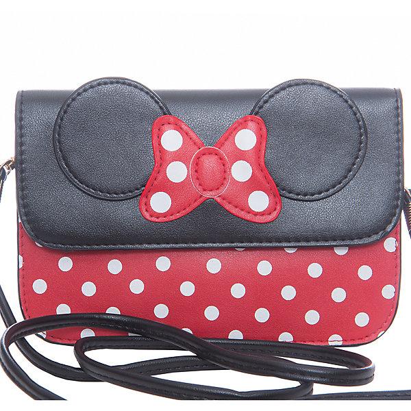 Сумка VITACCIДетские сумки<br>Характеристики товара:<br><br>• цвет: чёрный/красный<br>• состав: искусственная кожа, текстиль<br>• тип сумки: через плечо<br>• количество отделений: 1<br>• без карманов<br>• застежка: кнопка<br>• съёмный ремешок<br>• высота: 12 см<br>• ширина: 18 см<br>• глубина: 1 см<br>• страна бренда: Италия<br>• страна производства: Китай<br><br>Сумка для девочки в стиле Минни-Маус с рисунком в горох. Сумка через плечо имеет съёмный ремешок, закрывается на кнопку. Сняв ремешок сумочку можно носить как клатч.<br><br>Сумку от бренда Vitacci (Витачи) можно купить в нашем интернет-магазине.<br><br>Ширина мм: 170<br>Глубина мм: 157<br>Высота мм: 67<br>Вес г: 117<br>Цвет: красный<br>Возраст от месяцев: 36<br>Возраст до месяцев: 144<br>Пол: Женский<br>Возраст: Детский<br>Размер: one size<br>SKU: 5347459