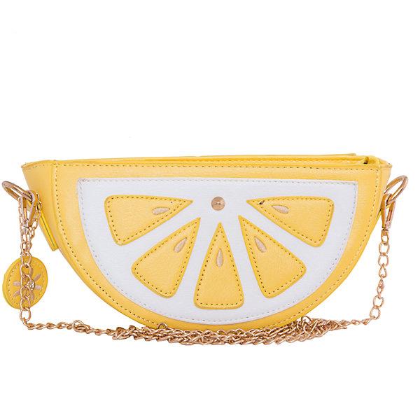 Сумка VITACCIДетские сумки<br>Характеристики:<br><br>• Тип сумки: сумка<br>• Пол: для девочки<br>• Цвет: желтый, белый<br>• Сезон: круглый год<br>• Тематика рисунка: долька лимона<br>• Тип застежки: молния, магнитная кнопка<br>• Ремешок-цепочка<br>• Одно отделение <br>• Спереди имеется карман<br>• Материал: верх – искусственная кожа, подклад – текстиль <br>• Габариты: ширина – 23,5 см, высота – 12,5 см, глубина – 6 см<br>• Длина ремешка: 120 см<br>• Вес: 300 г<br>• Особенности ухода: влажная чистка, сухая чистка<br><br>Сумка VITACCI от лидера российско-итальянского предприятия, которое специализируется на выпуске высококачественной обуви и аксессуаров как для взрослых, так и для детей. Детские сумки этого торгового бренда изготавливаются с учетом анатомических особенностей детей и имеют эргономичную форму. Форма и дизайн сумок разрабатывается итальянскими ведущими дизайнерами и отражает новейшие тенденции в мире моды. Особенность этого торгового бренда заключается в эксклюзивном сочетании материалов разных фактур и декорирование изделий стильными аксессуарами. <br><br>Сумка VITACCI изготовлена из экологически безопасной искусственной кожи. Имеет одно просторное отделение, застегивающееся на молнию и внешний карман, фиксируемый на магнитную. Плечевой ремешок выполнен из цепочки золотистого цвета. Сумка представлена в брендовом дизайне: в форме сочной дольки лимона.<br>Сумка VITACCI – это стильный аксессуар, который создаст неповторимый образ вашей девочки! <br><br>Сумку VITACCI можно купить в нашем интернет-магазине.<br><br>Ширина мм: 170<br>Глубина мм: 157<br>Высота мм: 67<br>Вес г: 117<br>Цвет: желтый<br>Возраст от месяцев: 36<br>Возраст до месяцев: 144<br>Пол: Женский<br>Возраст: Детский<br>Размер: one size<br>SKU: 5347509