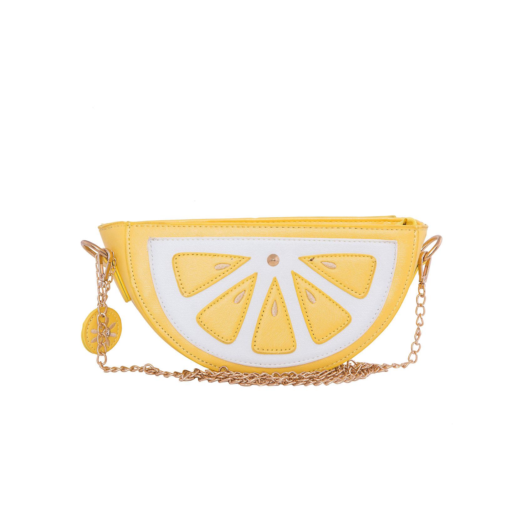 Сумка VITACCIСицилия<br>Характеристики:<br><br>• Тип сумки: сумка<br>• Пол: для девочки<br>• Цвет: желтый, белый<br>• Сезон: круглый год<br>• Тематика рисунка: долька лимона<br>• Тип застежки: молния, магнитная кнопка<br>• Ремешок-цепочка<br>• Одно отделение <br>• Спереди имеется карман<br>• Материал: верх – искусственная кожа, подклад – текстиль <br>• Габариты: ширина – 23,5 см, высота – 12,5 см, глубина – 6 см<br>• Длина ремешка: 120 см<br>• Вес: 300 г<br>• Особенности ухода: влажная чистка, сухая чистка<br><br>Сумка VITACCI от лидера российско-итальянского предприятия, которое специализируется на выпуске высококачественной обуви и аксессуаров как для взрослых, так и для детей. Детские сумки этого торгового бренда изготавливаются с учетом анатомических особенностей детей и имеют эргономичную форму. Форма и дизайн сумок разрабатывается итальянскими ведущими дизайнерами и отражает новейшие тенденции в мире моды. Особенность этого торгового бренда заключается в эксклюзивном сочетании материалов разных фактур и декорирование изделий стильными аксессуарами. <br><br>Сумка VITACCI изготовлена из экологически безопасной искусственной кожи. Имеет одно просторное отделение, застегивающееся на молнию и внешний карман, фиксируемый на магнитную. Плечевой ремешок выполнен из цепочки золотистого цвета. Сумка представлена в брендовом дизайне: в форме сочной дольки лимона.<br>Сумка VITACCI – это стильный аксессуар, который создаст неповторимый образ вашей девочки! <br><br>Сумку VITACCI можно купить в нашем интернет-магазине.<br><br>Ширина мм: 170<br>Глубина мм: 157<br>Высота мм: 67<br>Вес г: 117<br>Цвет: желтый<br>Возраст от месяцев: 36<br>Возраст до месяцев: 144<br>Пол: Женский<br>Возраст: Детский<br>Размер: one size<br>SKU: 5347509