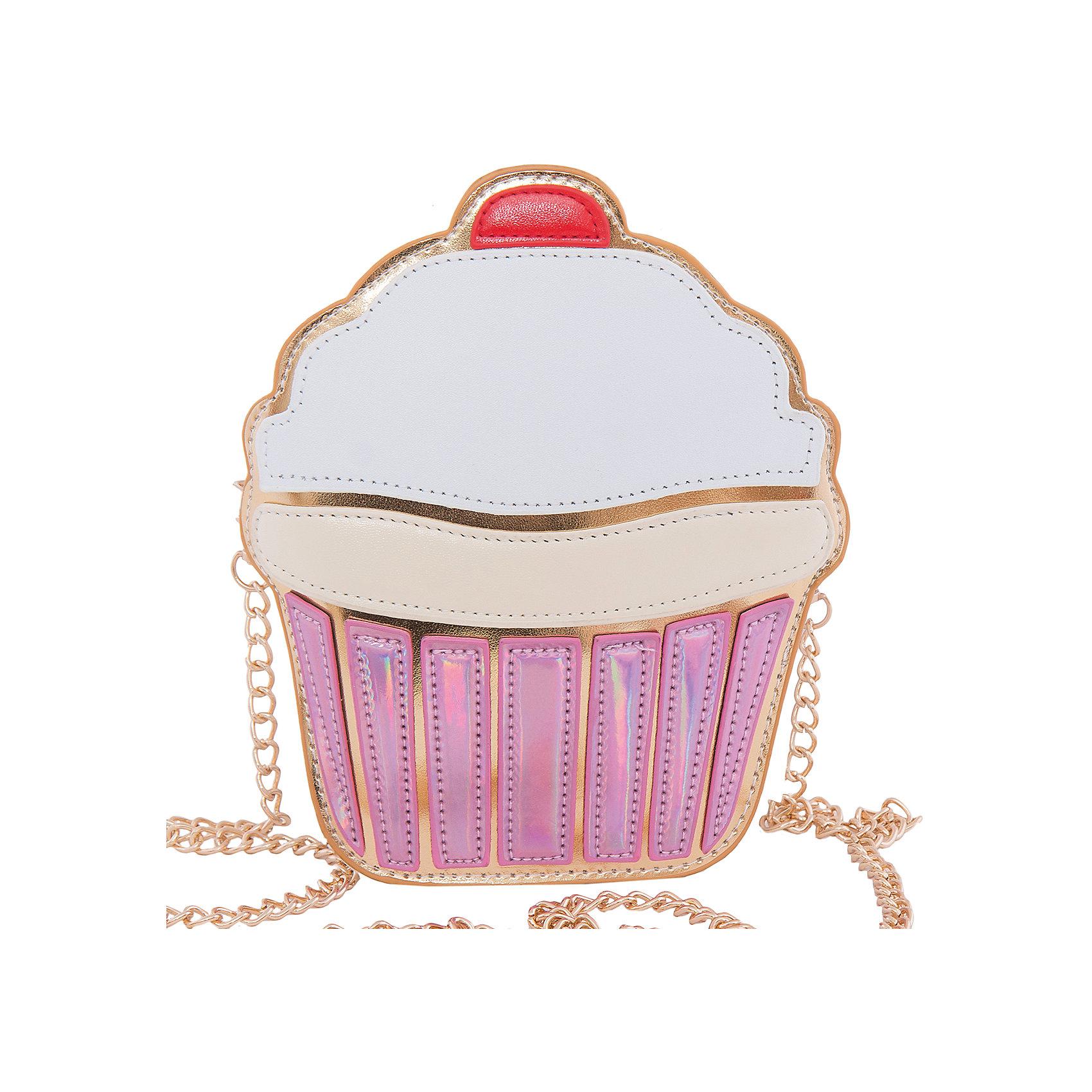 Сумка VITACCIХарактеристики:<br><br>• Тип сумки: вечерняя сумочка<br>• Пол: для девочки<br>• Цвет: белый, розовый<br>• Сезон: весна-лето<br>• Тематика рисунка: десерт<br>• Тип застежки: молния<br>• Съемный ремешок-цепочка<br>• Одно отделение <br>• Материал: верх – искусственная кожа, подклад – текстиль <br>• Габариты: ширина – 16 см, высота – 19 см, глубина – 5 см<br>• Вес: 320 г<br>• Особенности ухода: влажная чистка, сухая чистка<br><br>Сумка VITACCI от лидера российско-итальянского предприятия, которое специализируется на выпуске высококачественной обуви и аксессуаров как для взрослых, так и для детей. Детские сумки этого торгового бренда изготавливаются с учетом анатомических особенностей детей и имеют эргономичную форму. Форма и дизайн сумок разрабатывается итальянскими ведущими дизайнерами и отражает новейшие тенденции в мире моды. Особенность этого торгового бренда заключается в эксклюзивном сочетании материалов разных фактур и декорирование изделий стильными аксессуарами. <br><br>Сумка VITACCI изготовлена из экологически безопасной искусственной кожи. Имеет одно просторное отделение. Съемный плечевой ремешок изготовлен из цепочки золотистого цвета. Сумка выполнена в оригинальном дизайне: Передняя часть сумки имитирует пирожное капкейк с белой глазурью. <br>Сумка VITACCI – это стильный аксессуар, который создаст неповторимый праздничный образ вашей девочки! <br><br>Сумку VITACCI можно купить в нашем интернет-магазине.<br><br>Ширина мм: 170<br>Глубина мм: 157<br>Высота мм: 67<br>Вес г: 117<br>Цвет: розовый<br>Возраст от месяцев: 36<br>Возраст до месяцев: 144<br>Пол: Женский<br>Возраст: Детский<br>Размер: one size<br>SKU: 5347515