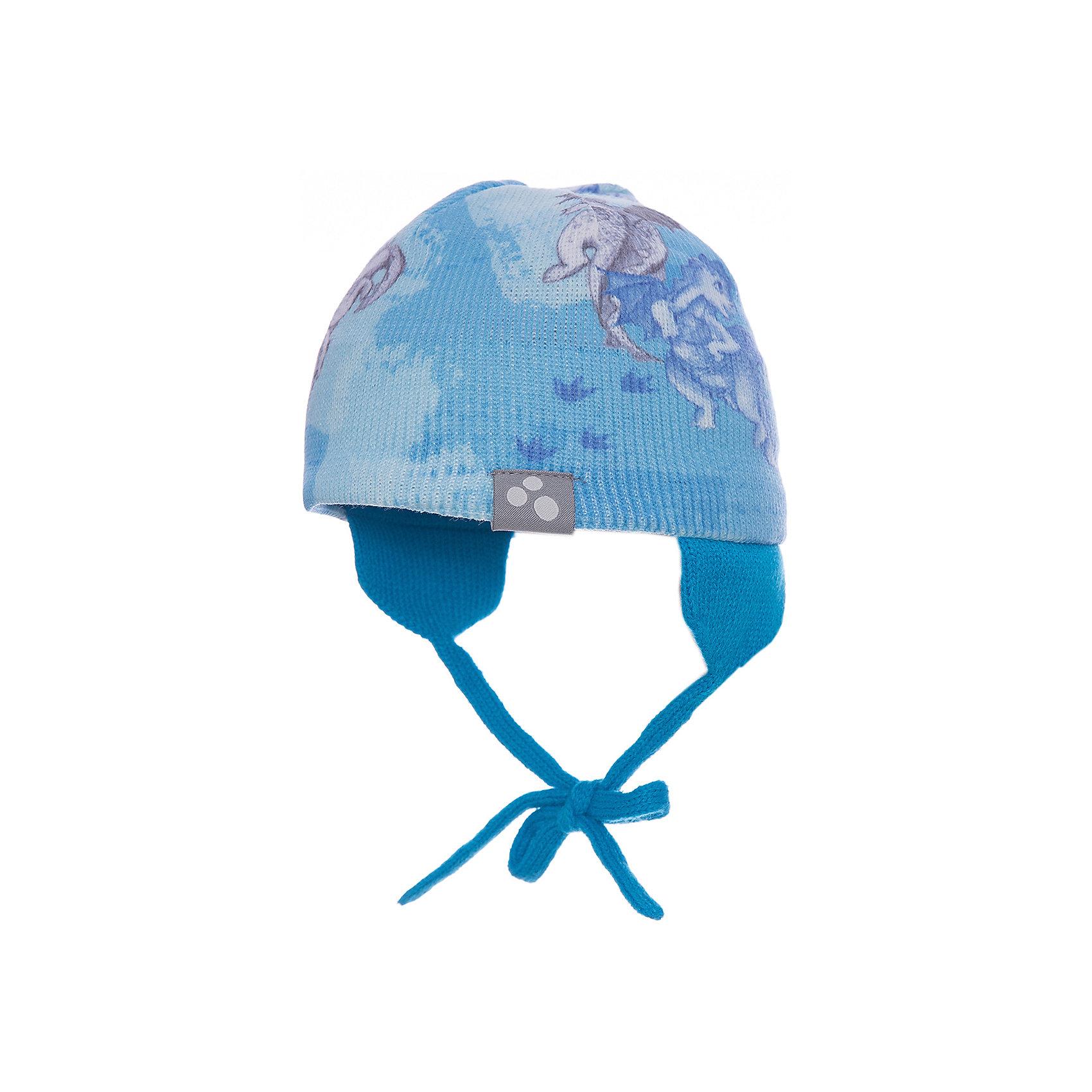 Шапка CAIRO для мальчика HuppaГоловные уборы<br>Характеристики товара:<br><br>• цвет: светло-голубой принт<br>• состав: 100% акрил<br>• температурный режим: от 0°С до +10°С<br>• демисезонная<br>• логотип<br>• защита ушей<br>• комфортная посадка<br>• завязки<br>• мягкий материал<br>• страна бренда: Эстония<br><br>Эта шапка обеспечит детям тепло и комфорт. Она сделана из приятного на ощупь мягкого материала. Шапка очень симпатично смотрится, а дизайн и расцветка позволяют сочетать её с различной одеждой. Модель была разработана специально для детей.<br><br>Одежда и обувь от популярного эстонского бренда Huppa - отличный вариант одеть ребенка можно и комфортно. Вещи, выпускаемые компанией, качественные, продуманные и очень удобные. Для производства изделий используются только безопасные для детей материалы. Продукция от Huppa порадует и детей, и их родителей!<br><br>Шапку CAIRO от бренда Huppa (Хуппа) можно купить в нашем интернет-магазине.<br><br>Ширина мм: 89<br>Глубина мм: 117<br>Высота мм: 44<br>Вес г: 155<br>Цвет: синий<br>Возраст от месяцев: 6<br>Возраст до месяцев: 12<br>Пол: Мужской<br>Возраст: Детский<br>Размер: 43-45,55-57,47-49,51-53<br>SKU: 5347667