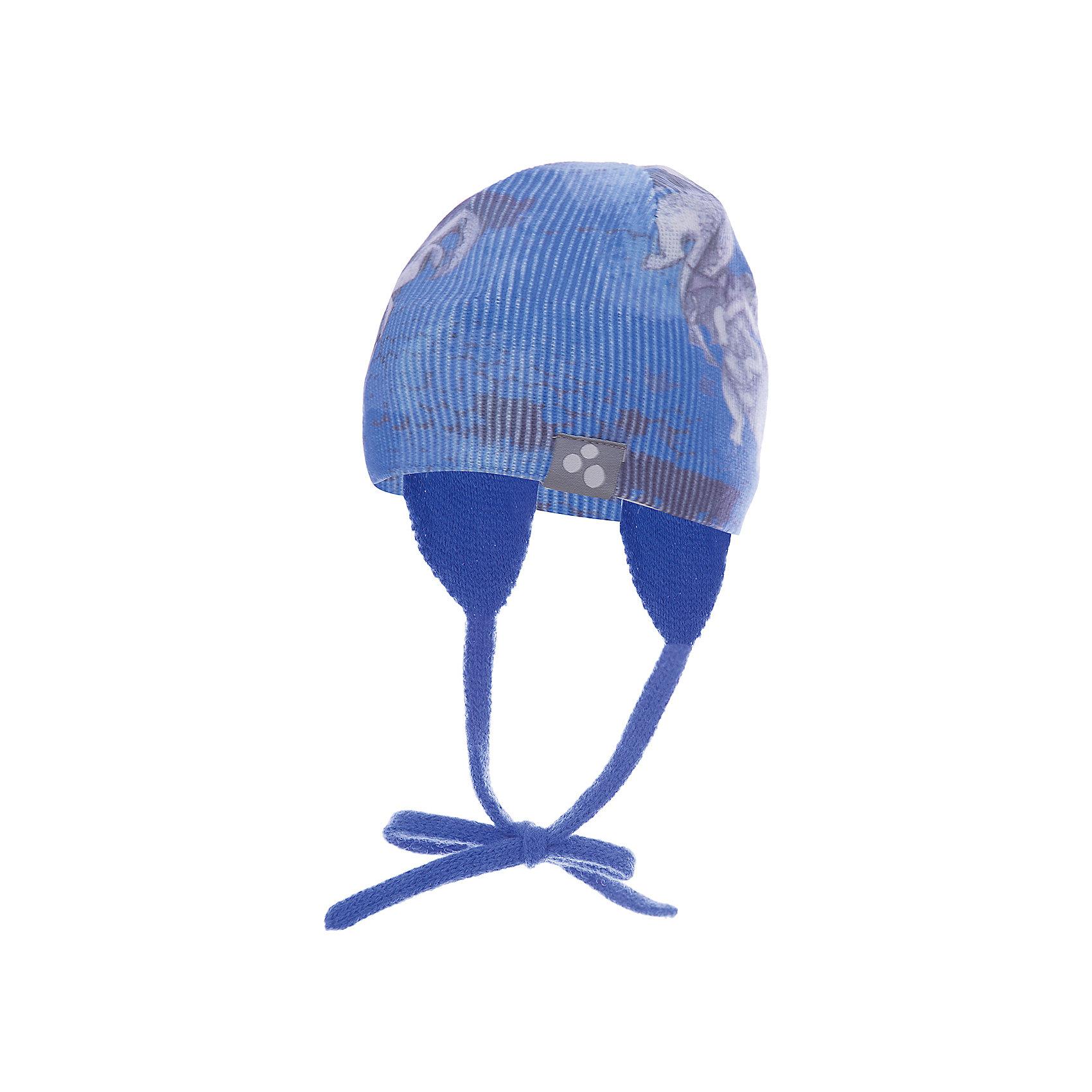 Шапка CAIRO для мальчика HuppaГоловные уборы<br>Характеристики товара:<br><br>• цвет: синий принт<br>• состав: 100% акрил<br>• температурный режим: от 0°С до +10°С<br>• демисезонная<br>• логотип<br>• защита ушей<br>• комфортная посадка<br>• завязки<br>• мягкий материал<br>• страна бренда: Эстония<br><br>Эта шапка обеспечит детям тепло и комфорт. Она сделана из приятного на ощупь мягкого материала. Шапка очень симпатично смотрится, а дизайн и расцветка позволяют сочетать её с различной одеждой. Модель была разработана специально для детей.<br><br>Одежда и обувь от популярного эстонского бренда Huppa - отличный вариант одеть ребенка можно и комфортно. Вещи, выпускаемые компанией, качественные, продуманные и очень удобные. Для производства изделий используются только безопасные для детей материалы. Продукция от Huppa порадует и детей, и их родителей!<br><br>Шапку CAIRO от бренда Huppa (Хуппа) можно купить в нашем интернет-магазине.<br><br>Ширина мм: 89<br>Глубина мм: 117<br>Высота мм: 44<br>Вес г: 155<br>Цвет: синий<br>Возраст от месяцев: 6<br>Возраст до месяцев: 12<br>Пол: Мужской<br>Возраст: Детский<br>Размер: 43-45,55-57,51-53,47-49<br>SKU: 5347672