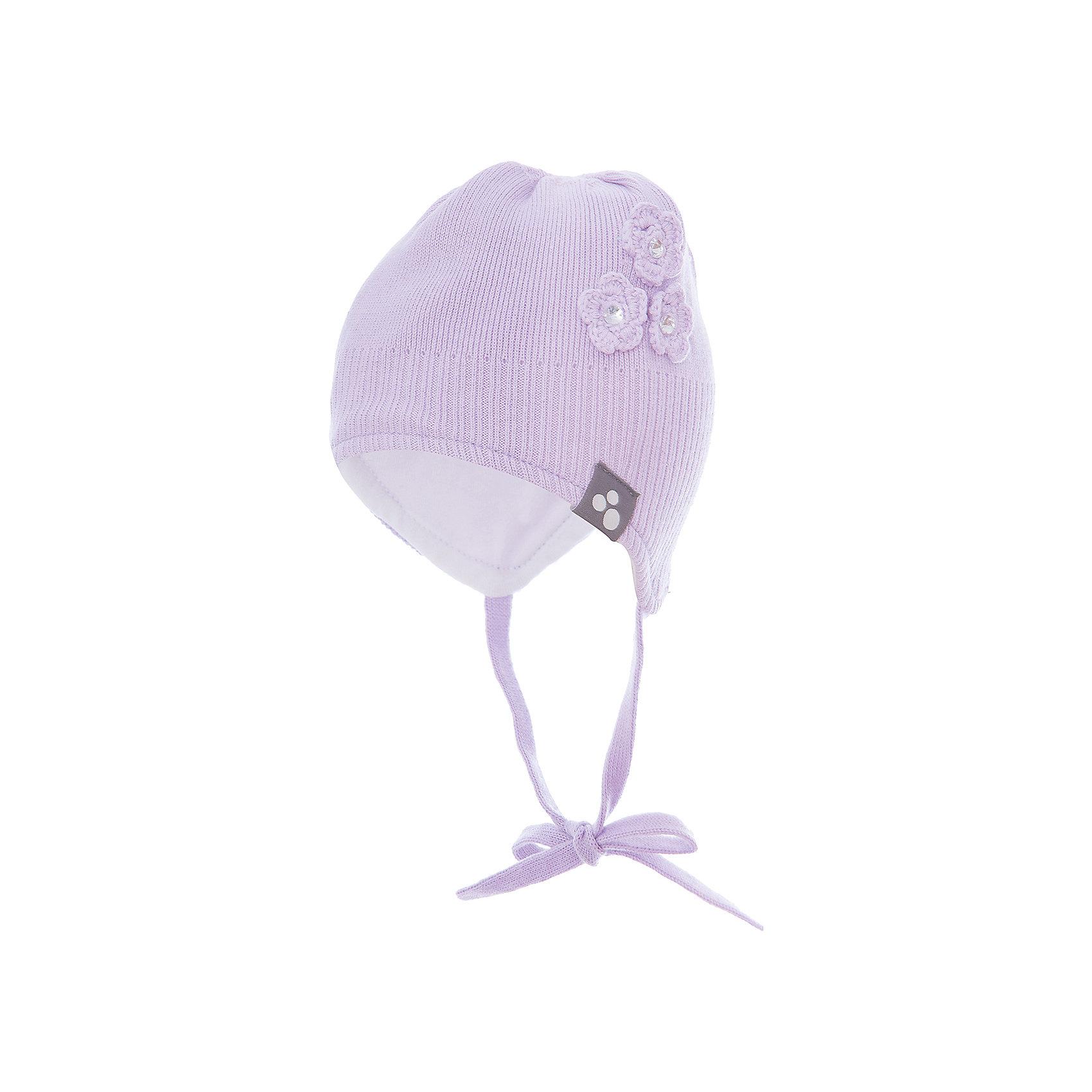 Шапка LARA для девочки HuppaГоловные уборы<br>Характеристики товара:<br><br>• цвет: сиреневый<br>• состав: 100% хлопок<br>• температурный режим: от -7°до +10°С<br>• хлопковая подкладка<br>• завязки<br>• логотип<br>• можно надевать под капюшон<br>• декорирована вязаными цветами<br>• комфортная посадка<br>• мягкий материал<br>• температурный режим: от 0°С до +10°С<br>• коллекция: весна-лето 2017<br>• страна бренда: Эстония<br><br>Эта шапка обеспечит малышам тепло и комфорт. Она сделана из приятного на ощупь материала, поэтому изделие не колется и не натирает. Подкладка выполнена из дышащего и гипоаллергенного хлопка. Шапка очень симпатично смотрится, а дизайн и отделка добавляют ей оригинальности. Модель была разработана специально для малышей.<br><br>Одежда и обувь от популярного эстонского бренда Huppa - отличный вариант одеть ребенка можно и комфортно. Вещи, выпускаемые компанией, качественные, продуманные и очень удобные. Для производства изделий используются только безопасные для детей материалы. Продукция от Huppa порадует и детей, и их родителей!<br><br>Шапку LARA от бренда Huppa (Хуппа) можно купить в нашем интернет-магазине.<br><br>Ширина мм: 89<br>Глубина мм: 117<br>Высота мм: 44<br>Вес г: 155<br>Цвет: фиолетовый<br>Возраст от месяцев: 6<br>Возраст до месяцев: 12<br>Пол: Женский<br>Возраст: Детский<br>Размер: 43-45,55-57,51-53,47-49<br>SKU: 5347715