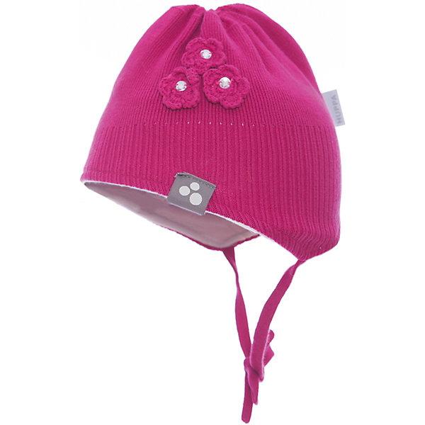Шапка LARA для девочки HuppaДемисезонные<br>Характеристики товара:<br><br>• цвет: фуксия<br>• состав: 100% хлопок<br>• температурный режим: от -7°до +10°С<br>• хлопковая подкладка<br>• завязки<br>• логотип<br>• можно надевать под капюшон<br>• декорирована вязаными цветами<br>• комфортная посадка<br>• мягкий материал<br>• температурный режим: от 0°С до +10°С<br>• коллекция: весна-лето 2017<br>• страна бренда: Эстония<br><br>Эта шапка обеспечит малышам тепло и комфорт. Она сделана из приятного на ощупь материала, поэтому изделие не колется и не натирает. Подкладка выполнена из дышащего и гипоаллергенного хлопка. Шапка очень симпатично смотрится, а дизайн и отделка добавляют ей оригинальности. Модель была разработана специально для малышей.<br><br>Одежда и обувь от популярного эстонского бренда Huppa - отличный вариант одеть ребенка можно и комфортно. Вещи, выпускаемые компанией, качественные, продуманные и очень удобные. Для производства изделий используются только безопасные для детей материалы. Продукция от Huppa порадует и детей, и их родителей!<br><br>Шапку LARA от бренда Huppa (Хуппа) можно купить в нашем интернет-магазине.<br>Ширина мм: 89; Глубина мм: 117; Высота мм: 44; Вес г: 155; Цвет: розовый; Возраст от месяцев: 6; Возраст до месяцев: 12; Пол: Женский; Возраст: Детский; Размер: 43-45,51-53,55-57,47-49; SKU: 5347720;