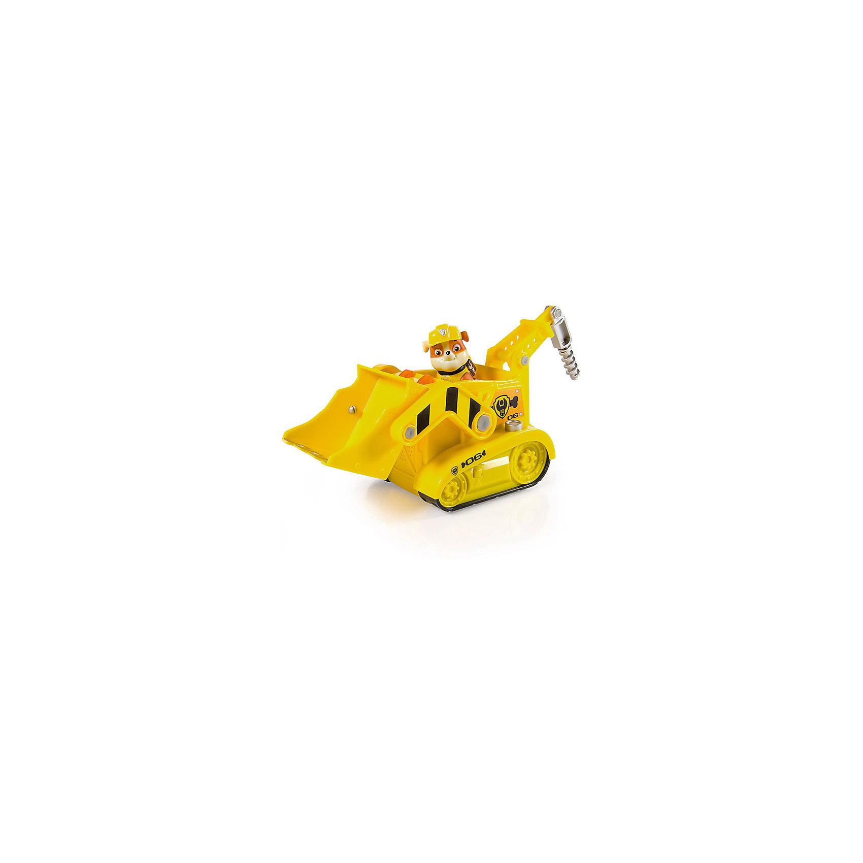 Автомобиль спасателей Крепыш, Щенячий патрульМашинки<br>Характеристики:<br><br>• Предназначение: для сюжетно-ролевых и подвижных игр<br>• Пол: для мальчиков<br>• Коллекция: Щенячий патруль<br>• Материал: пластик<br>• Комплектация: экскаватор, фигурка Крепыша<br>• Звуковые и световые эффекты<br>• Сзади у экскаватора предусмотрен бур<br>• Спереди двигающийся ковш<br>• Длина экскаватора: около 30 см<br>• Высота щенка: 7 см<br>• Батарейки: 3 шт. типа ААА (предусмотрены в комплекте)<br>• Вес: 690 г<br>• Размеры упаковки (Д*В*Ш): 30,5*13,5*25 см<br>• Упаковка: картонная коробка открытого типа<br>• Особенности ухода: сухая или влажная чистка<br><br>Автомобиль спасателей Крепыш, Щенячий патруль – это набор производителем которого является торговый бренд Spin Master, специализирующийся на выпуске интерактивных игрушек. Комплект состоит из строительного экскаватора и фигурки Крепыша. Все детали выполнены из прочного и безопасного пластика, окрашены нетоксичными красками. Фигурка Крепыша выполнена с высокой степенью детализации и соответствия экранному прототипу: у него имеется яркая защитная каска и желтый жилет. <br><br>Экскаватор оснащен буром (двигается вверх и вниз) и подвижным ковшом. Гусеницы не подвижные, но экскаватор может перемещаться за счет маленьких колесиков. Сюжетно-ролевые игры с набором будут способствовать развитию памяти, фантазии и воображения, а также позволят воспроизвести наиболее понравившиеся сюжеты с любимыми героями.<br><br>Автомобиль спасателей Крепыш, Щенячий патруль можно купить в нашем интернет-магазине.<br><br>Ширина мм: 305<br>Глубина мм: 250<br>Высота мм: 135<br>Вес г: 690<br>Возраст от месяцев: 36<br>Возраст до месяцев: 84<br>Пол: Мужской<br>Возраст: Детский<br>SKU: 5348070