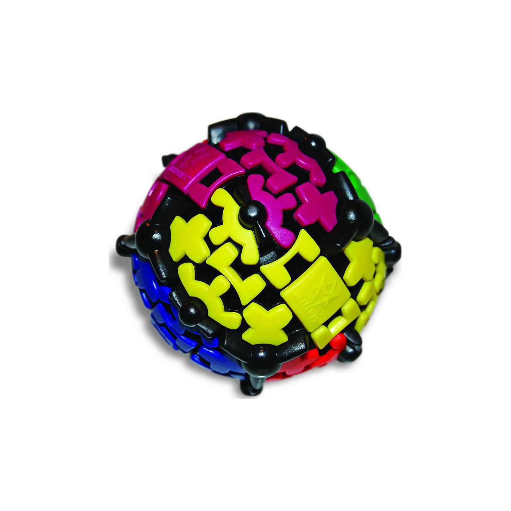 Шестеренчатый Шар Gear Ball, MeffertsШестеренчатый Шар Gear Ball, Mefferts.<br><br>Характеристики:<br><br>- Диаметр шара: 8,5 см.<br>- Материал: пластик<br>- Автор: знаменитый изобретатель Oskar van Deventer, при участии Uwe Meffert<br>- Награда: Медаль Best Vacation Toy 2013 (Лучшая игрушка для отпуска) от Dr.Toy, США<br><br>Шестеренчатый Шар Gear Ball, Mefferts – это невероятно интересная и увлекательная головоломка. Задача состоит в том, чтобы собрать каждый из 6 цветов на своей стороне шара, научившись справляться с упрямыми шестеренками. Шестеренчатый Шар очень подвижный и завораживающий своими плавными движениями. Все элементы, кроме 6 разноцветных квадратов, задействованы в шестеренчатом механизме, захватившем поверхность головоломки. В результате, любой поворот вызывает движение сразу на нескольких плоскостях шара, создавая хаос, которым нужно научиться управлять, прикатывая зубчатые элементы к квадрату соответствующего цвета. Механика игры немного напоминает кубик Рубика, но ее сложность значительно меньше. Головоломка «Шестеренчатый Шар Gear Bal» произведет впечатление на любого человека, а для коллекционера головоломок станет настоящей жемчужиной. Головоломка изготовлена из качественного пластика, прослужит долго и сохранит превосходный внешний вид даже через много лет.<br><br>Шестеренчатый Шар Gear Ball, Mefferts можно купить в нашем интернет-магазине.<br><br>Ширина мм: 105<br>Глубина мм: 110<br>Высота мм: 130<br>Вес г: 400<br>Возраст от месяцев: 84<br>Возраст до месяцев: 2147483647<br>Пол: Унисекс<br>Возраст: Детский<br>SKU: 5348108