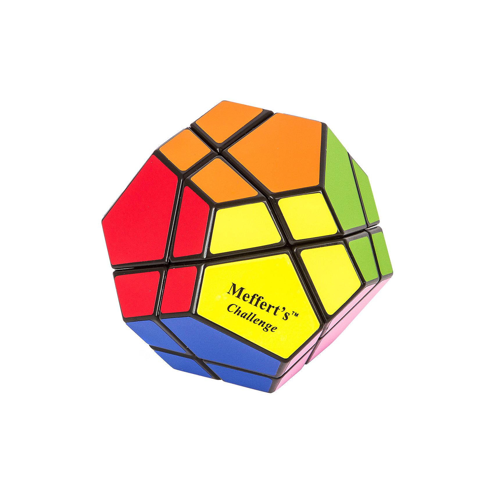 Головоломка Скьюб, MeffertsОбъёмные головоломки<br>Головоломка Скьюб, Mefferts.<br><br>Характеристики:<br><br>- Размер: 85х85 мм.<br>- Количество цветов: 12 цветов<br>- Материал: пластик<br>- Лицензионное качество Mefferts: виниловые наклейки, механизм с микро-фиксацией поворотов<br>- Превосходная подарочная упаковка<br><br>Скьюб – это уникальная головоломка от изобретателя Пирамидки! Головоломка Скьюб – это всего 100 миллионов комбинаций и лишь 1 решение. Это самая сложная разновидность Скьюба - версия Ultimate у которой 12 цветов и хотя это в 2 раза больше чем у кубика Рубика, не стоит делать поспешных выводов о ее сверх сложности. Посчитано, что в теории Скьюб можно собрать, сделав не более 14 поворотов! Форма головоломки - додекаэдр, равностороннее 12-гранное геометрическое тело. Каждую из сторон головоломки крест-накрест разрезают 2 линии, образующие элементы двух видов: маленькие трехцветные и большие четырехцветные. Оба разреза проходят насквозь через всю игрушку каждый раз, разделяя ее ровно на 2 половины. Цель - собрать все элементы одного цвета на одной стороне. Скьюб от Mefferts - это настоящий вызов, редкость и раритет, который высоко ценится коллекционерами и любителями механических головоломок.<br><br>Головоломку Скьюб, Mefferts можно купить в нашем интернет-магазине.<br><br>Ширина мм: 105<br>Глубина мм: 110<br>Высота мм: 130<br>Вес г: 350<br>Возраст от месяцев: 84<br>Возраст до месяцев: 2147483647<br>Пол: Унисекс<br>Возраст: Детский<br>SKU: 5348109