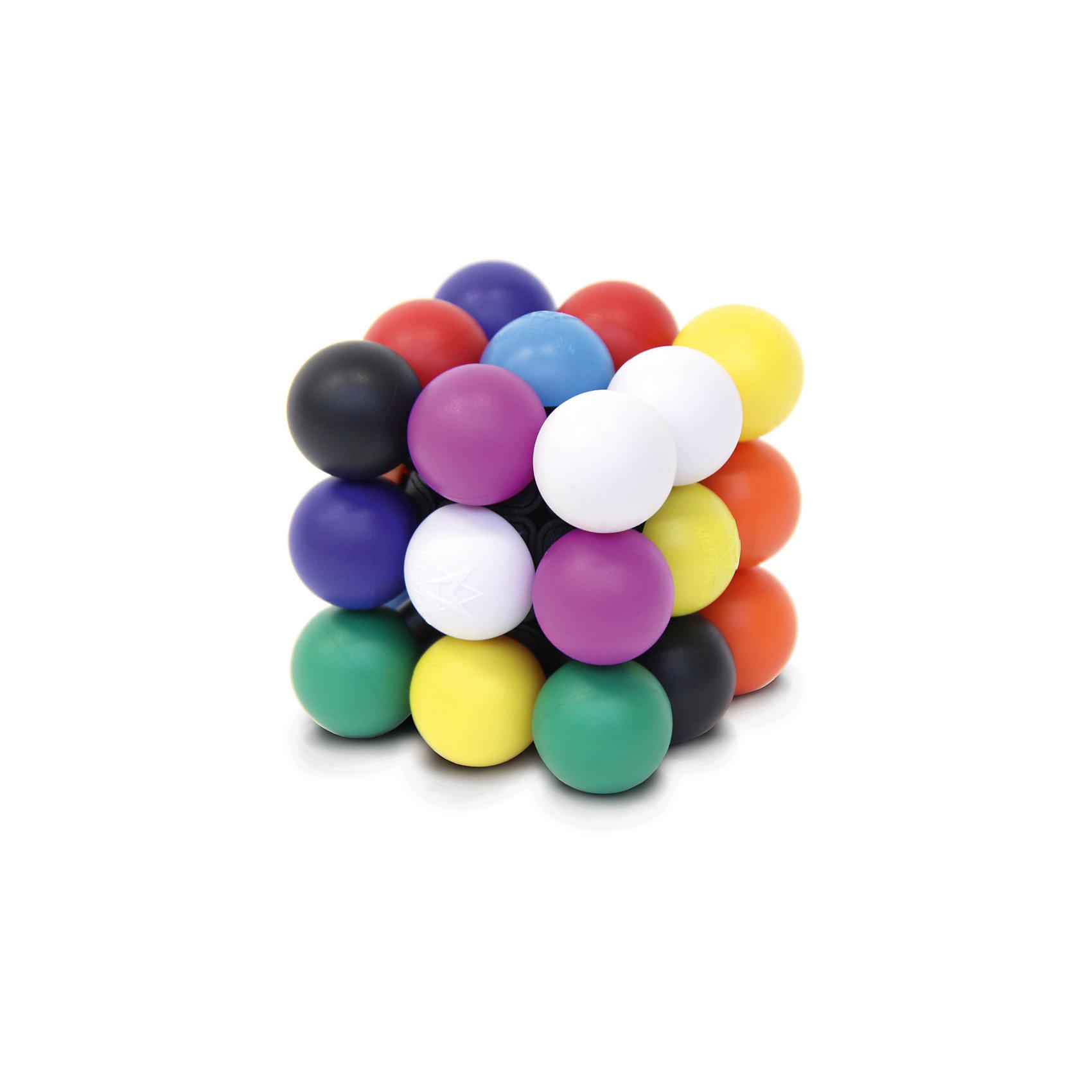 Головоломка Молекуб, MeffertsИгры в дорогу<br>Головоломка Молекуб, Mefferts.<br><br>Характеристики:<br><br>- Возраст: от 7 лет<br>- Размер головоломки: 7х7х7см.<br>- Материал: пластик<br><br>Молекуб от Mefferts – это потрясающая механическая головоломка, которая представляет собой необычный куб, состоящий из 26 молекул – шаров 9 различных цветов. По смыслу этой головоломке подошло бы название Анти-кубик Рубика или кубик Рубика наоборот, ведь задача состоит в том, чтобы собрать на каждой стороне 9 шариков разного цвета. Молекуб так же понравится любителям Судоку. Если предположить, что каждый цвет можно обозначить цифрой от 1 до 9 и у нас всего 26 таких цифр, которые нужно расставить на 6 сторонах куба, то получается, что Молекуб - это такая цветная 3D-Судоку, решить которую весьма непросто. Бренд Mefferts всегда славился своим качеством, вниманием к деталям и дизайном. В Молекубе они превзошли сами себя! Превосходный механизм с щелчками, которые очень приятно ощущаются в руках. Яркие цвета и первоклассный пластик. Никакой окраски - каждый шарик сделан из пластика соответствующего цвета. Головоломка Молекуб произведет впечатление на любого человека, а для коллекционера головоломок станет настоящей жемчужиной.<br><br>Головоломку Молекуб, Mefferts можно купить в нашем интернет-магазине.<br><br>Ширина мм: 105<br>Глубина мм: 110<br>Высота мм: 130<br>Вес г: 350<br>Возраст от месяцев: 84<br>Возраст до месяцев: 2147483647<br>Пол: Унисекс<br>Возраст: Детский<br>SKU: 5348110