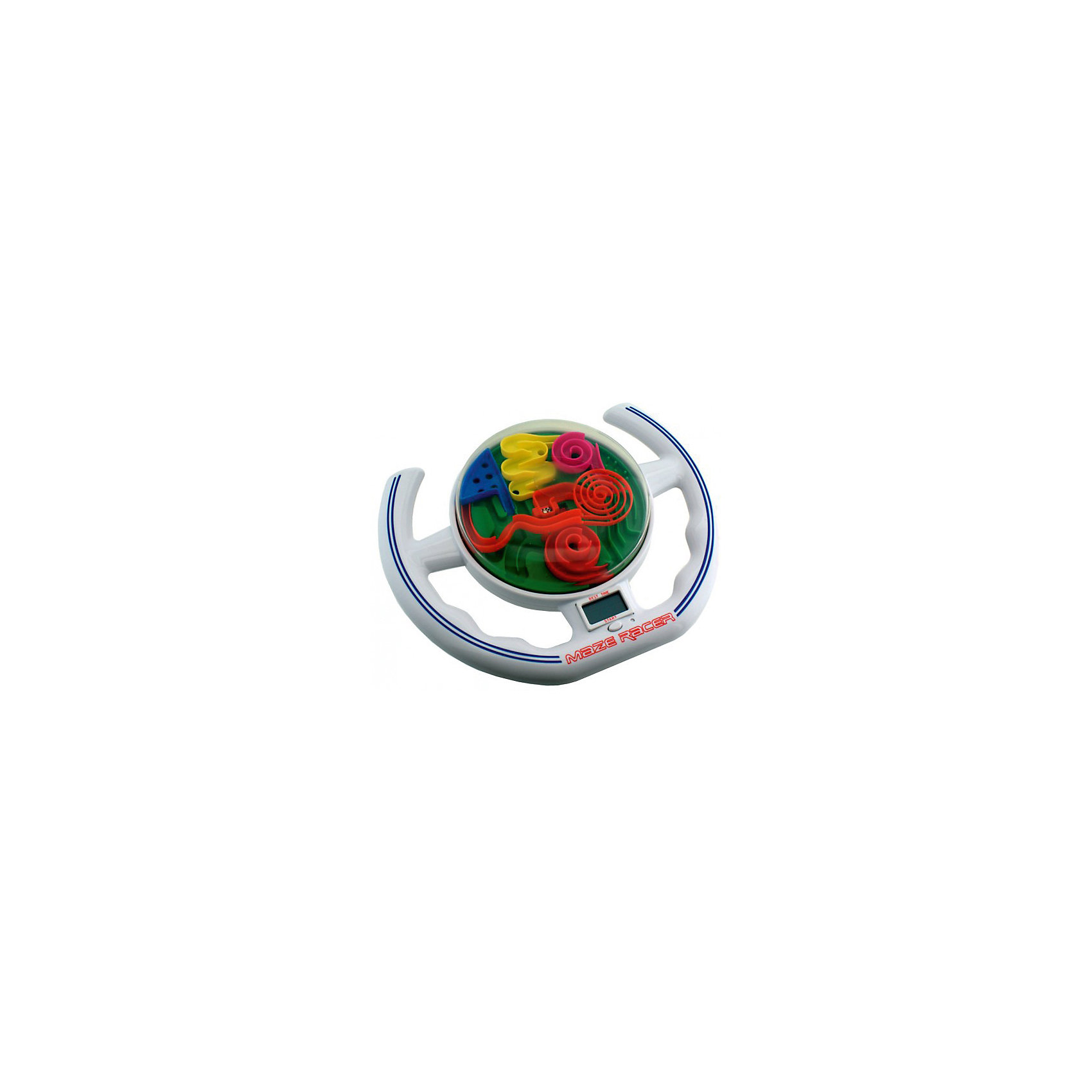 Лабиринтус-руль,  LabirintusОбъёмные головоломки<br>Лабиринтус-руль, Labirintus.<br><br>Характеристики:<br><br>- Возраст: от 6 лет<br>- Размер руля: 20 х 25 см.<br>- Трасса более 1 метра<br>- Батарейки: 2 типа АА (входят в комплект)<br>- Материал: пластик<br><br>Игра Лабиринтус-руль - электронный вариант популярных Шаров-Лабиринтов. Игра выполнена в форме руля от спортивной машины, на поверхности которого расположен лабиринт, а внутри лабиринта есть металлический шарик. Цель игры состоит в том, чтобы пройти запутанную трассу с препятствиями за рекордно короткие сроки, наклоняя и поворачивая руль так, чтобы удерживать шарик на дорожке и обходить опасные точки - отверстия, неогороженный бортик и прочее. Как только шарик попадет конечную точку, сработает стоп-датчик и таймер остановится. Трасса лабиринта более 1 метра. Звуковой эффект добавляет азарт, а ЖК-дисплей между ручек руля показывает текущее время и лучший результат. Игра развивает логическое и пространственное мышление, тренирует усидчивость.<br><br>Игру Лабиринтус-руль, Labirintus можно купить в нашем интернет-магазине.<br><br>Ширина мм: 280<br>Глубина мм: 70<br>Высота мм: 300<br>Вес г: 400<br>Возраст от месяцев: 72<br>Возраст до месяцев: 2147483647<br>Пол: Унисекс<br>Возраст: Детский<br>SKU: 5348111