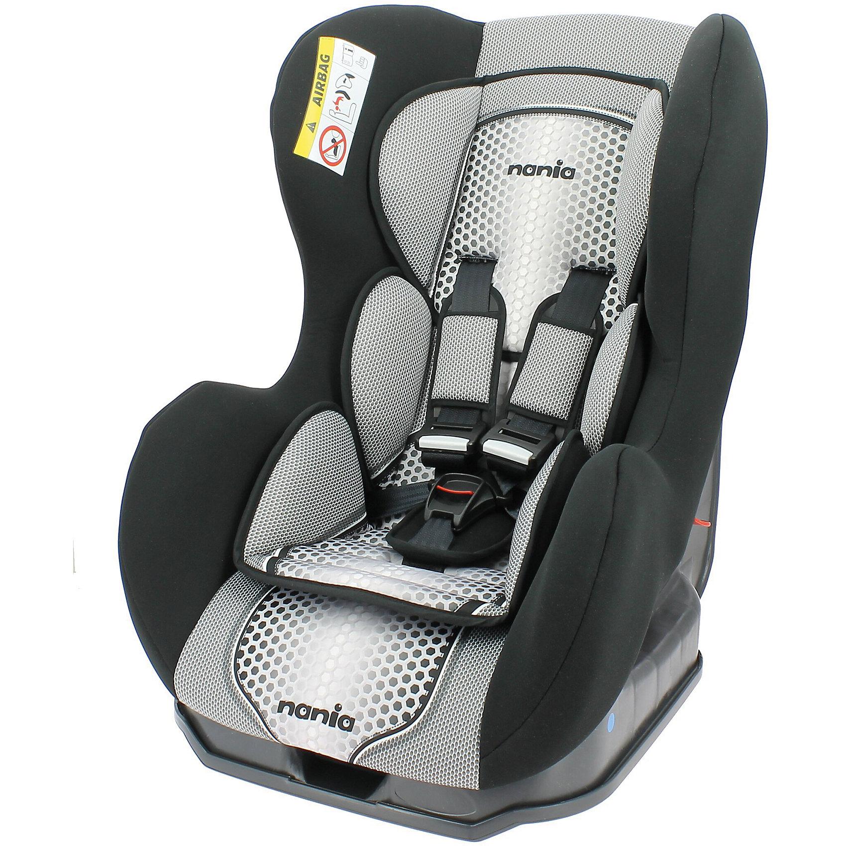 Автокресло Nania Cosmo SP FST 0-18 кг, pop blackГруппа 0+, 1 (До 18 кг)<br>Характеристики Nania Cosmo SP FST:<br><br>• группа 0+/1;<br>• вес ребенка: до 18 кг;<br>• возраст ребенка: от рождения до 4-х лет;<br>• способ установки: против хода (до 9 кг) и по ходу движения автомобиля (9-18кг);<br>• способ крепления: штатными ремнями безопасности автомобиля;<br>• 5-ти точечные ремни безопасности с мягкими накладками;<br>• угол наклона спинки регулируется: 3 положения;<br>• анатомический вкладыш для новорожденного, подголовник;<br>• дополнительная защита от боковых ударов, система SP (side protection);<br>• съемные чехлы, стирка при температуре 30 градусов;<br>• материал: пластик, полиэстер;<br>• стандарт безопасности: ЕСЕ R44/03.<br><br>Размер автокресла: 54х45х61 см<br>Размер сиденья: 33х31 см<br>Высота спинки: 55 см<br>Вес автокресла: 5,7 кг<br><br>Автокресло Nania Cosmo SP FST устанавливается как по ходу движения, так и против хода движения автомобиля, как на заднем сиденье автомобиля, так и на переднем сиденье автомобиля (с условием отключения подушки безопасности). Регулируемая спинка дает возможность малышу занять удобное положение, как во время сна, так и во время бодрствования. Автокресло соответствует всем стандартам безопасности.<br><br>Автокресло Cosmo SP FST 0-18 кг., Nania, pop black можно купить в нашем интернет-магазине.<br><br>Ширина мм: 600<br>Глубина мм: 500<br>Высота мм: 700<br>Вес г: 6000<br>Возраст от месяцев: 0<br>Возраст до месяцев: 48<br>Пол: Унисекс<br>Возраст: Детский<br>SKU: 5350603