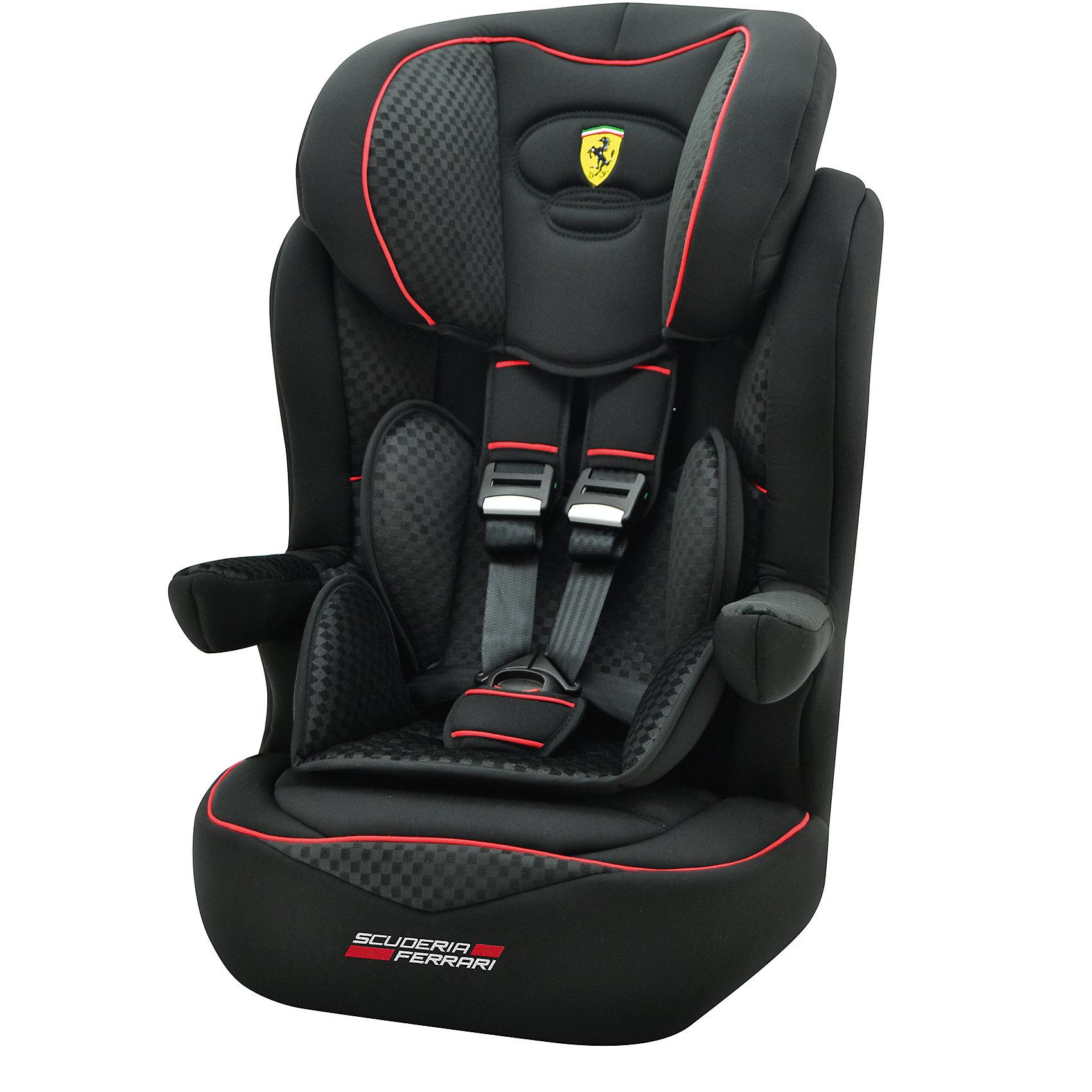 Автокресло Nania Imax SP, 9-36 кг, black FerrariГруппа 1-2-3 (От 9 до 36 кг)<br>Характеристики автокресла Nania Imax SP:<br><br>• группа 1-2-3;<br>• вес ребенка: 9-36 кг;<br>• возраст ребенка: от 9 месяцев до 12 лет;<br>• цельный литой корпус автокресла;<br>• способ установки: по ходу движения автомобиля;<br>• способ крепления: штатными ремнями безопасности автомобиля;<br>• 5-ти точечные ремни безопасности с мягкими накладками, регулируются по высоте (3 положения) и длине;<br>• ремни безопасности можно полностью снять, когда малыш подрастет - тогда ребенка можно будет пристегивать штатными ремнями безопасности;<br>• имеются подлокотники, которые регулируются по высоте;<br>• регулируемая высота подголовника: 6 уровней;<br>• дополнительная защита от боковых ударов, система SP (side protection);<br>• съемные чехлы, стирка при температуре 30 градусов;<br>• материал: пластик, полиэстер;<br>• стандарт безопасности: ЕСЕ R44/04.<br><br>Размер автокресла: 45x45x72/88 см<br>Размер сиденья: 32х40 см<br>Высота спинки: 64-75 см<br>Вес автокресла: 4,7 кг<br><br>Автокресло Imax SP, 9-36 кг., Nania, black Ferrari можно купить в нашем интернет-магазине.<br><br>Ширина мм: 450<br>Глубина мм: 450<br>Высота мм: 880<br>Вес г: 4700<br>Возраст от месяцев: 12<br>Возраст до месяцев: 144<br>Пол: Унисекс<br>Возраст: Детский<br>SKU: 5350605