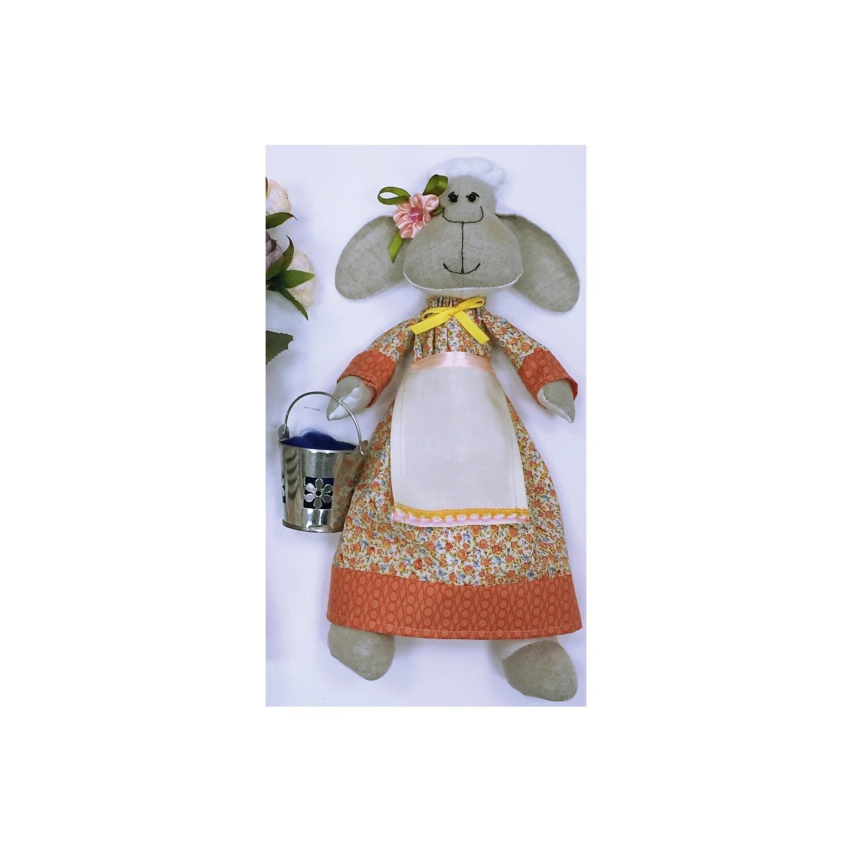 Набор для шитья Овечка фермерВ набор входит выкройка, подробная инструкция, лекало, мел, булавки, нитки, наполнитель-холлафайбер, ленты и аксессуары для украшения. Игрушка выполняется из специальной несыпучей ткани для печворка. Своими руками Вы создаете дизайнерскую игрушку<br><br>Ширина мм: 200<br>Глубина мм: 80<br>Высота мм: 260<br>Вес г: 800<br>Возраст от месяцев: 120<br>Возраст до месяцев: 180<br>Пол: Унисекс<br>Возраст: Детский<br>SKU: 5350860