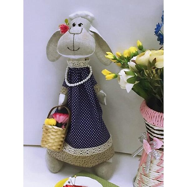 Набор для шитья Овечка ЦветочницаШитьё<br>В набор входит выкройка, подробная инструкция, лекало, мел, булавки, нитки, наполнитель-холлафайбер, ленты и аксессуары для украшения. Игрушка выполняется из специальной несыпучей ткани для печворка. Своими руками Вы создаете дизайнерскую игрушку<br><br>Ширина мм: 200<br>Глубина мм: 80<br>Высота мм: 260<br>Вес г: 800<br>Возраст от месяцев: 120<br>Возраст до месяцев: 180<br>Пол: Унисекс<br>Возраст: Детский<br>SKU: 5350861