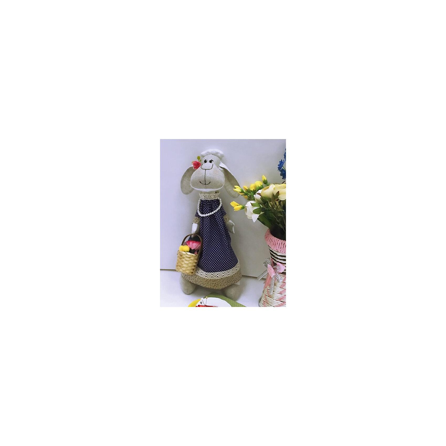 Набор для шитья Овечка ЦветочницаВ набор входит выкройка, подробная инструкция, лекало, мел, булавки, нитки, наполнитель-холлафайбер, ленты и аксессуары для украшения. Игрушка выполняется из специальной несыпучей ткани для печворка. Своими руками Вы создаете дизайнерскую игрушку<br><br>Ширина мм: 250<br>Глубина мм: 20<br>Высота мм: 350<br>Вес г: 500<br>Возраст от месяцев: 120<br>Возраст до месяцев: 180<br>Пол: Унисекс<br>Возраст: Детский<br>SKU: 5350868