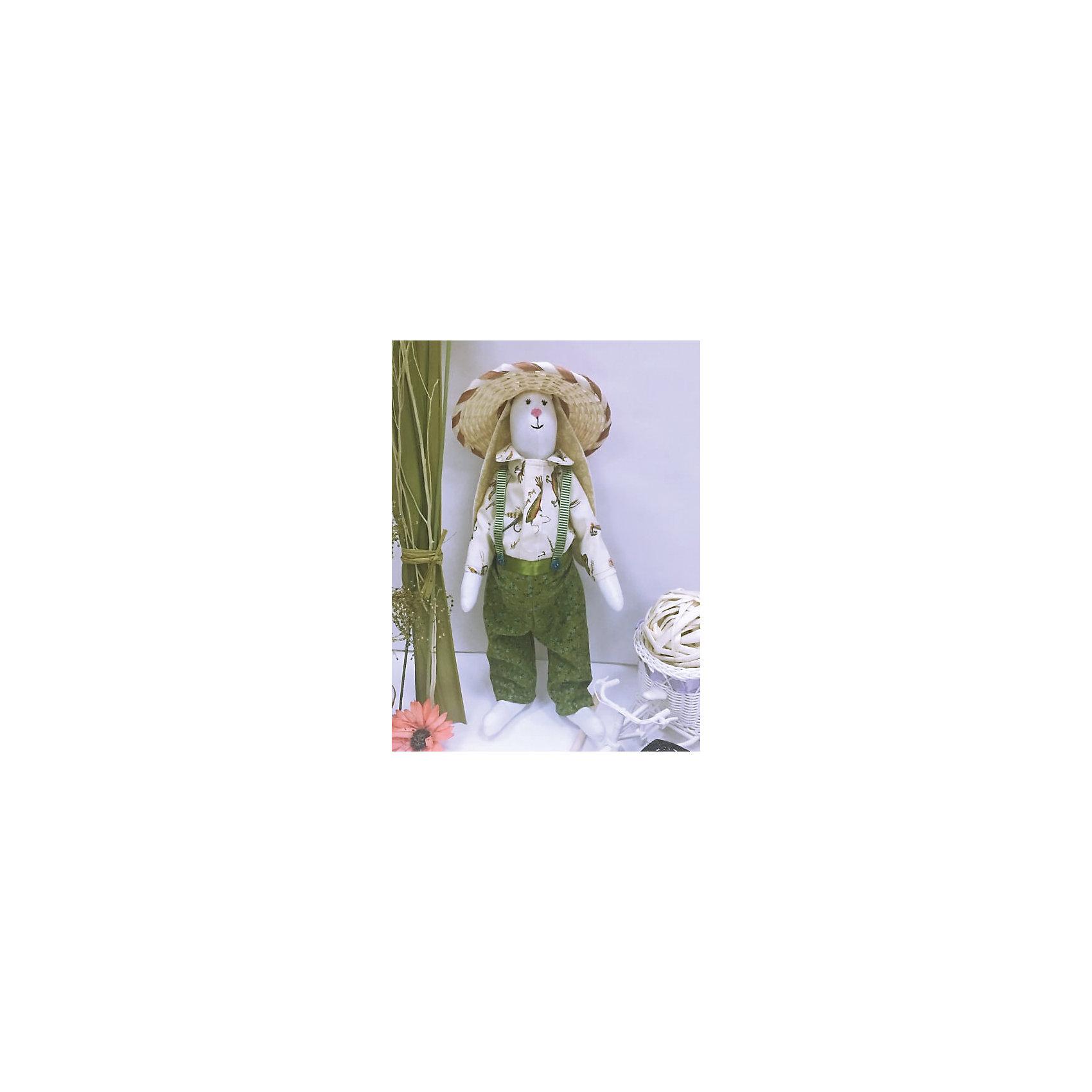 Набор для шитья Зайка ПасечникВ набор входит выкройка, подробная инструкция, лекало, мел, булавки, нитки, наполнитель-холлафайбер, ленты и аксессуары для украшения. Игрушка выполняется из специальной несыпучей ткани для печворка. Своими руками Вы создаете дизайнерскую игрушку<br><br>Ширина мм: 250<br>Глубина мм: 20<br>Высота мм: 350<br>Вес г: 500<br>Возраст от месяцев: 120<br>Возраст до месяцев: 180<br>Пол: Унисекс<br>Возраст: Детский<br>SKU: 5350869