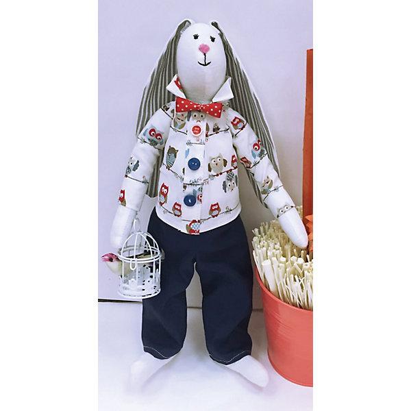 Набор для шитья Галантный заяцШитьё<br>В набор входит выкройка, подробная инструкция, лекало, мел, булавки, нитки, наполнитель-холлафайбер, ленты и аксессуары для украшения. Игрушка выполняется из специальной несыпучей ткани для печворка. Своими руками Вы создаете дизайнерскую игрушку<br><br>Ширина мм: 250<br>Глубина мм: 20<br>Высота мм: 350<br>Вес г: 500<br>Возраст от месяцев: 120<br>Возраст до месяцев: 180<br>Пол: Унисекс<br>Возраст: Детский<br>SKU: 5350870