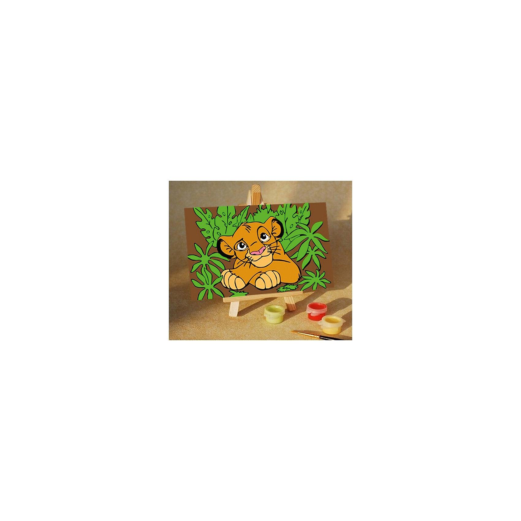 Роспись по холсту Король левРисование<br>Это набор для раскрашивания, который состоит из размеченного и полностью готового холста. натянутого на деревянный подрамник. Холст состоит из хлопка 100 %. Он пропитан специальной смесью для нанесения акриловых красок. Краски акриловые на водной основе. Они в вакуумной упаковке. Что гарантирует, то что они не высохнут от жары и не замерзнут от холода. В набор входят 3 кисти, контрольный лист.<br><br>Ширина мм: 110<br>Глубина мм: 25<br>Высота мм: 160<br>Вес г: 200<br>Возраст от месяцев: 36<br>Возраст до месяцев: 84<br>Пол: Унисекс<br>Возраст: Детский<br>SKU: 5350893