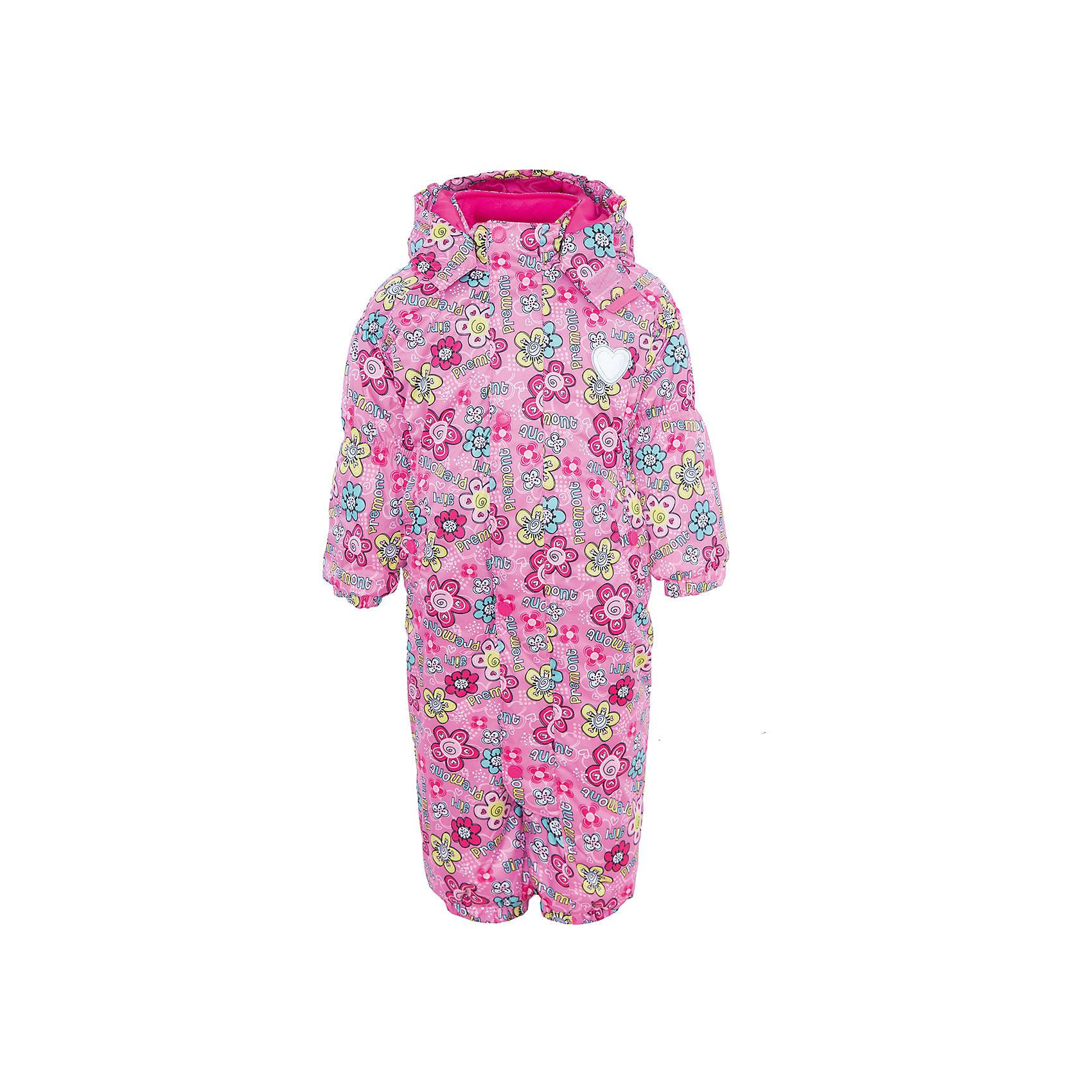 Комбинезон для девочки PremontВерхняя одежда<br>Характеристики товара:<br><br>• цвет: розовый<br>• состав: мембрана 3000мм/3000г/м2/24h<br>• подкладка: трикотаж, Taffeta в капюшоне и рукавах<br>• утеплитель - Tech-polyfill (120г/м2)<br>• светоотражающие элементы<br>• температурный режим: от -5°С до +10°С<br>• застежка - молния<br>• капюшон съемный с утяжкой<br>• принт<br>• ветронепроницаемый, водо- и грязеотталкивающий и дышащий материал<br>• эластичные манжеты<br>• комфортная посадка<br>• страна бренда: Канада<br><br>Демисезонный комбинезон - универсальный вариант и для прохладной осени, и для первых заморозков. Эта модель - модная и удобная одновременно! Комбинезон отличается стильным ярким дизайном. Комплект хорошо сидит по фигуре, отлично сочетается с различной обувью. Вещь была разработана специально для детей.<br><br>Одежда от канадского бренда Premont уже завоевала популярностью у многих детей и их родителей. Вещи, выпускаемые компанией, качественные, продуманные и очень удобные. Для производства коллекций используются только безопасные для детей материалы.<br><br>Комбинезон для девочки от бренда Premont можно купить в нашем интернет-магазине.<br><br>Ширина мм: 356<br>Глубина мм: 10<br>Высота мм: 245<br>Вес г: 519<br>Цвет: розовый<br>Возраст от месяцев: 12<br>Возраст до месяцев: 18<br>Пол: Женский<br>Возраст: Детский<br>Размер: 86,98,92,80,74,68<br>SKU: 5352936