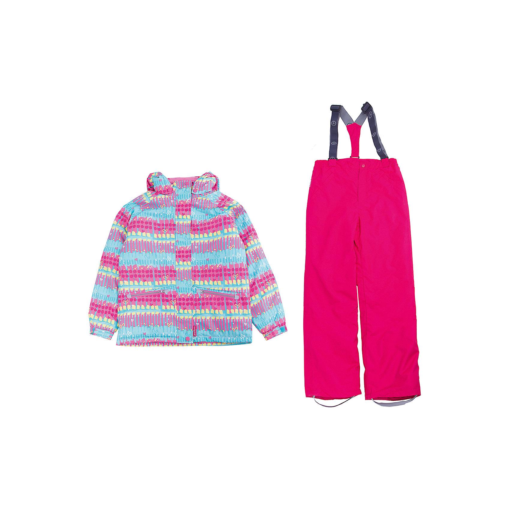 Комплект: куртка и полукомбинезон для девочки PremontВерхняя одежда<br>Характеристики товара:<br><br>• цвет: розовый<br>• состав: мембрана 3000мм/3000г/м2/24h<br>• подкладка: трикотаж, Taffeta<br>• утеплитель - Tech-polyfill (120г/м2)<br>• светоотражающие элементы<br>• температурный режим: от -5°С до +10°С<br>• застежка - молния<br>• капюшон съемный<br>• принт<br>• ветронепроницаемый, водо- и грязеотталкивающий и дышащий материал<br>• эластичные манжеты<br>• регулируемые подтяжки<br>• комфортная посадка<br>• страна бренда: Канада<br><br>Демисезонный комплект из куртки и брюк - универсальный вариант и для прохладной осени, и для первых заморозков. Эта модель - модная и удобная одновременно! Куртка отличается стильным ярким дизайном. Комплект хорошо сидит по фигуре, отлично сочетается с различной обувью. Вещь была разработана специально для детей.<br><br>Одежда от канадского бренда Premont уже завоевала популярностью у многих детей и их родителей. Вещи, выпускаемые компанией, качественные, продуманные и очень удобные. Для производства коллекций используются только безопасные для детей материалы.<br><br>Комплект: куртка и полукомбинезон для девочки от бренда Premont можно купить в нашем интернет-магазине.<br><br>Ширина мм: 356<br>Глубина мм: 10<br>Высота мм: 245<br>Вес г: 519<br>Цвет: голубой<br>Возраст от месяцев: 18<br>Возраст до месяцев: 24<br>Пол: Женский<br>Возраст: Детский<br>Размер: 92,152,98,104,110,116,122,128,134,140,146<br>SKU: 5352943