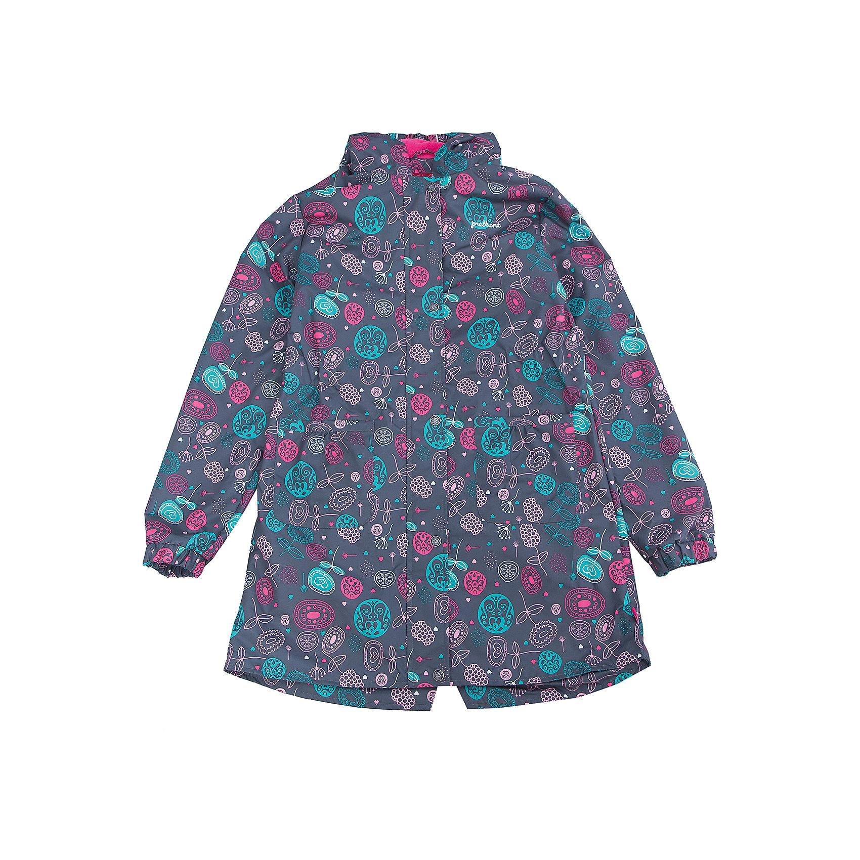 Плащ для девочки PremontВерхняя одежда<br>Характеристики товара:<br><br>• цвет: серый принт<br>• состав: верх - мембрана 5 000 mm, подкладка - полиэстер, флис, без утеплителя<br>• температурный режим: от +5 С° до +15 С<br>• демисезон<br>• капюшон<br>• застежка - молния<br>• декорирован принтом<br>• карманы<br>• ветронепроницаемый, водо- и грязеотталкивающий и дышащий материал<br>• эластичные манжеты<br>• фиксация талии с помощью внутренней резинки<br>• комфортная посадка<br>• страна бренда: Канада<br><br>Такой плащ - универсальный вариант для теплого межсезонья с постоянно меняющейся погодой. Эта модель - модная и удобная одновременно! Изделие отличается стильным ярким дизайном. Плащ хорошо сидит по фигуре, отлично сочетается с различным низом. Вещь была разработана специально для детей.<br><br>Одежда от канадского бренда Premont уже завоевала популярностью у многих детей и их родителей. Вещи, выпускаемые компанией, качественные, продуманные и очень удобные. Для производства коллекций используются только безопасные для детей материалы.<br><br>Плащ для девочки от бренда Premont можно купить в нашем интернет-магазине.<br><br>Ширина мм: 356<br>Глубина мм: 10<br>Высота мм: 245<br>Вес г: 519<br>Цвет: серый<br>Возраст от месяцев: 48<br>Возраст до месяцев: 60<br>Пол: Женский<br>Возраст: Детский<br>Размер: 110,164/170,122,134,140/146,152/158<br>SKU: 5352991