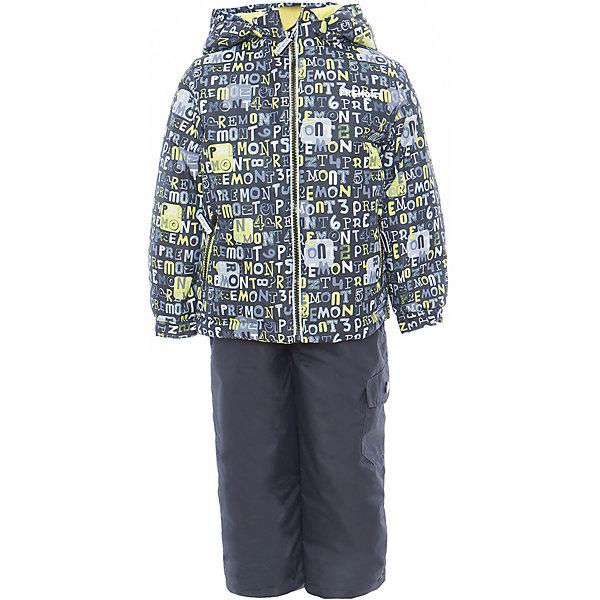 Комплект: куртка и полукомбинезон для мальчика PremontВерхняя одежда<br>Характеристики товара:<br><br>• цвет: серый/чёрный<br>• состав: мембрана 3000мм/3000г/м2/24h<br>• подкладка: трикотаж, Taffeta <br>• утеплитель - Tech-polyfill (120г/м2)<br>• светоотражающие элементы<br>• температурный режим: от -5°С до +10°С<br>• застежка - молния<br>• капюшон съемный<br>• принт<br>• ветронепроницаемый, водо- и грязеотталкивающий и дышащий материал<br>• эластичные манжеты<br>• регулируемые подтяжки<br>• комфортная посадка<br>• страна бренда: Канада<br><br>Демисезонный комплект из куртки и брюк - универсальный вариант и для прохладной осени, и для первых заморозков. Эта модель - модная и удобная одновременно! Куртка отличается стильным ярким дизайном. Комплект хорошо сидит по фигуре, отлично сочетается с различной обувью. Вещь была разработана специально для детей.<br><br>Одежда от канадского бренда Premont уже завоевала популярностью у многих детей и их родителей. Вещи, выпускаемые компанией, качественные, продуманные и очень удобные. Для производства коллекций используются только безопасные для детей материалы.<br><br>Комплект: куртка и полукомбинезон от бренда Premont можно купить в нашем интернет-магазине.<br><br>Ширина мм: 356<br>Глубина мм: 10<br>Высота мм: 245<br>Вес г: 519<br>Цвет: черный<br>Возраст от месяцев: 36<br>Возраст до месяцев: 48<br>Пол: Мужской<br>Возраст: Детский<br>Размер: 104,110,116,122,128,134,140,146,152,92,98<br>SKU: 5353073