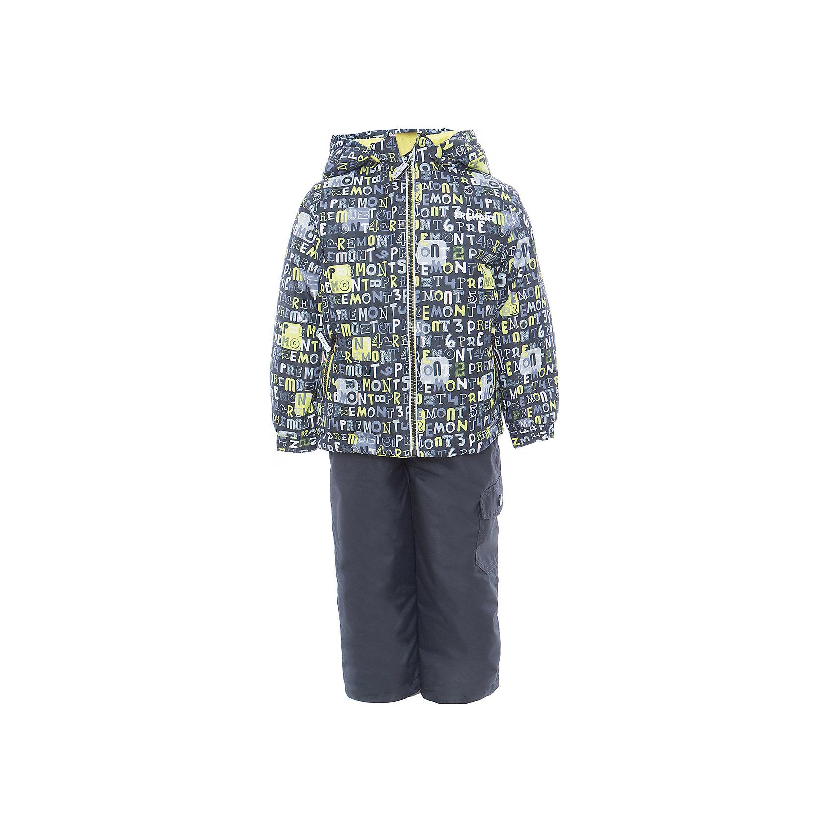 Комплект: куртка и полукомбинезон для мальчика PremontВерхняя одежда<br>Характеристики товара:<br><br>• цвет: серый/чёрный<br>• состав: мембрана 3000мм/3000г/м2/24h<br>• подкладка: трикотаж, Taffeta <br>• утеплитель - Tech-polyfill (120г/м2)<br>• светоотражающие элементы<br>• температурный режим: от -5°С до +10°С<br>• застежка - молния<br>• капюшон съемный<br>• принт<br>• ветронепроницаемый, водо- и грязеотталкивающий и дышащий материал<br>• эластичные манжеты<br>• регулируемые подтяжки<br>• комфортная посадка<br>• страна бренда: Канада<br><br>Демисезонный комплект из куртки и брюк - универсальный вариант и для прохладной осени, и для первых заморозков. Эта модель - модная и удобная одновременно! Куртка отличается стильным ярким дизайном. Комплект хорошо сидит по фигуре, отлично сочетается с различной обувью. Вещь была разработана специально для детей.<br><br>Одежда от канадского бренда Premont уже завоевала популярностью у многих детей и их родителей. Вещи, выпускаемые компанией, качественные, продуманные и очень удобные. Для производства коллекций используются только безопасные для детей материалы.<br><br>Комплект: куртка и полукомбинезон от бренда Premont можно купить в нашем интернет-магазине.<br><br>Ширина мм: 356<br>Глубина мм: 10<br>Высота мм: 245<br>Вес г: 519<br>Цвет: черный<br>Возраст от месяцев: 36<br>Возраст до месяцев: 48<br>Пол: Мужской<br>Возраст: Детский<br>Размер: 146,152,92,98,104,110,116,122,128,134,140<br>SKU: 5353073
